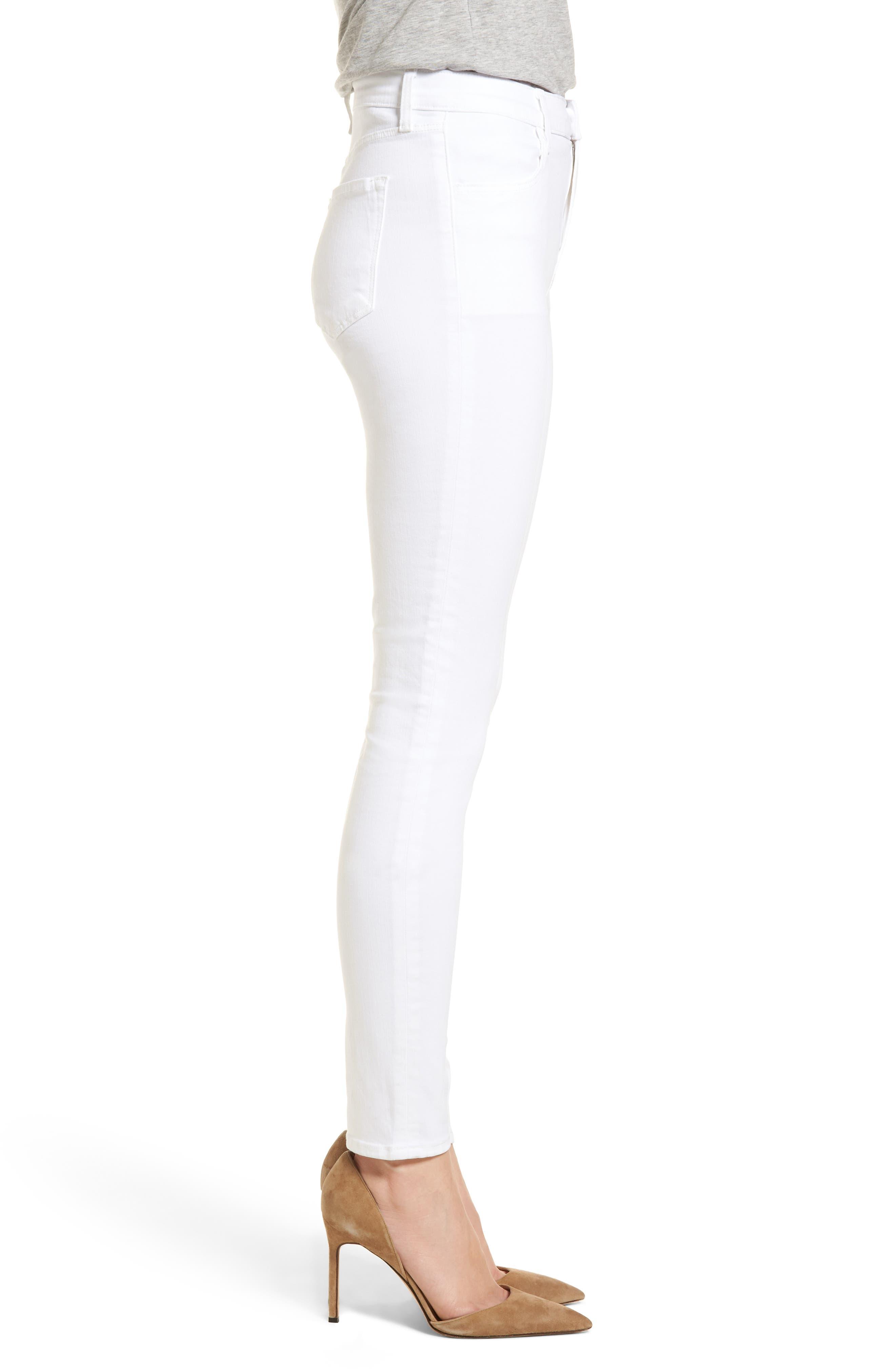 Maria High Waist Skinny Jeans,                             Alternate thumbnail 3, color,                             White