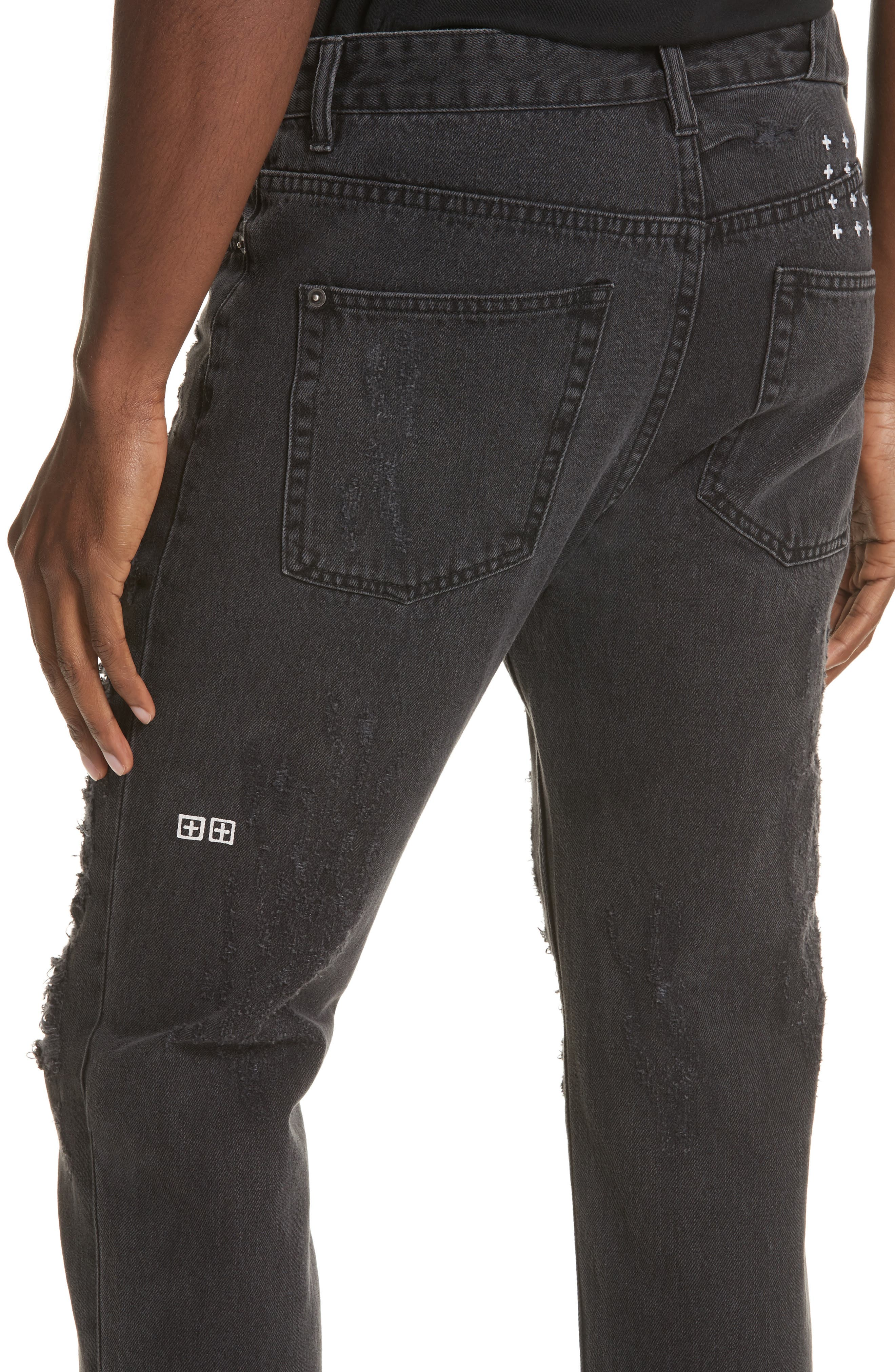 Chitch Chop Rat Attack Jeans,                             Alternate thumbnail 4, color,                             Black