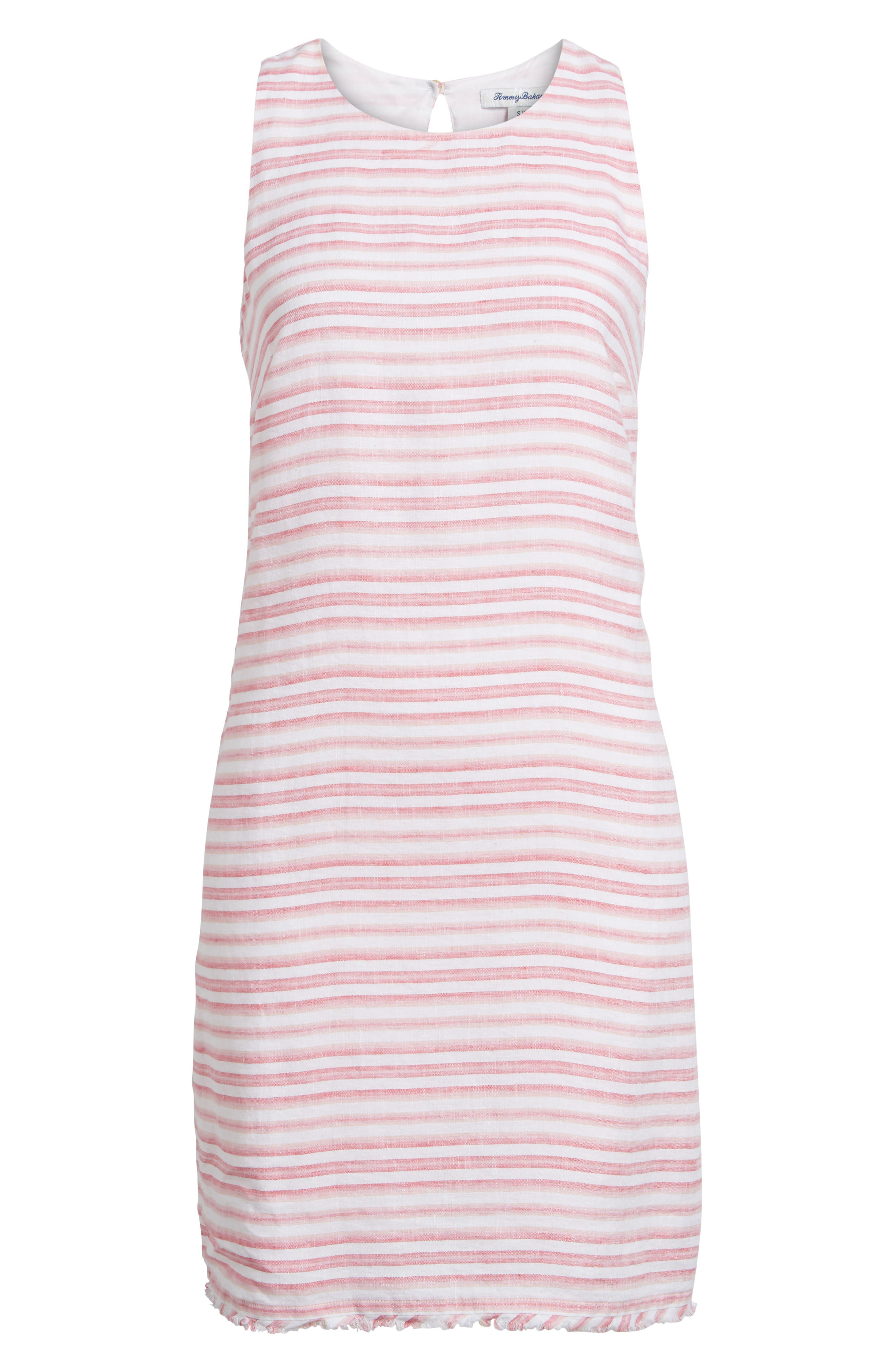Bella Hermosa Linen Shift Dress,                             Alternate thumbnail 6, color,                             French Rose