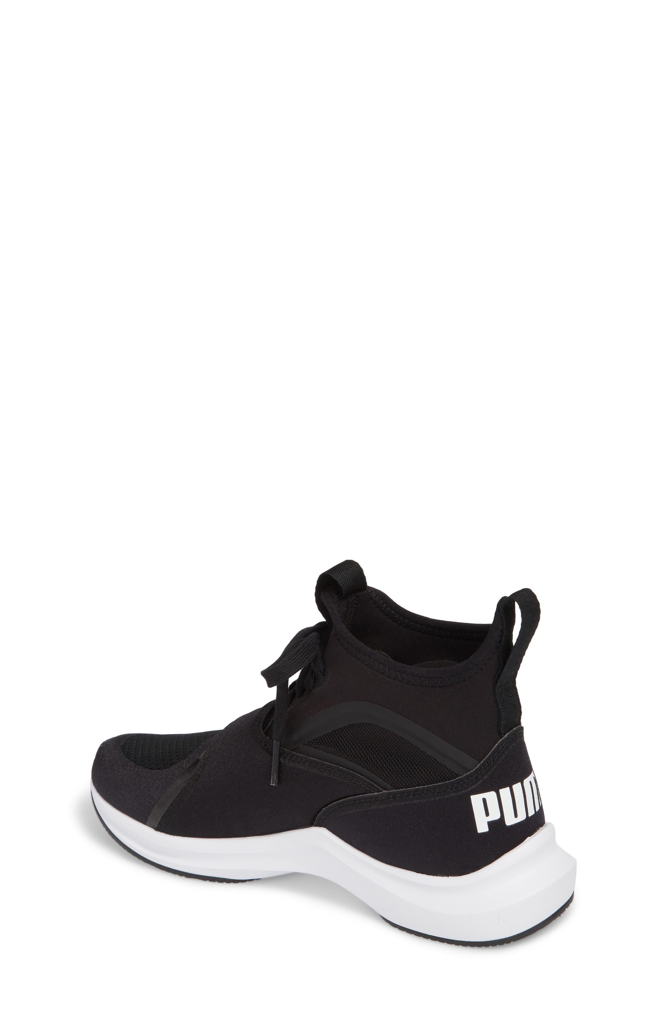 Phenom Jr High Top Sneaker,                             Alternate thumbnail 2, color,                             Puma Black/ Puma White