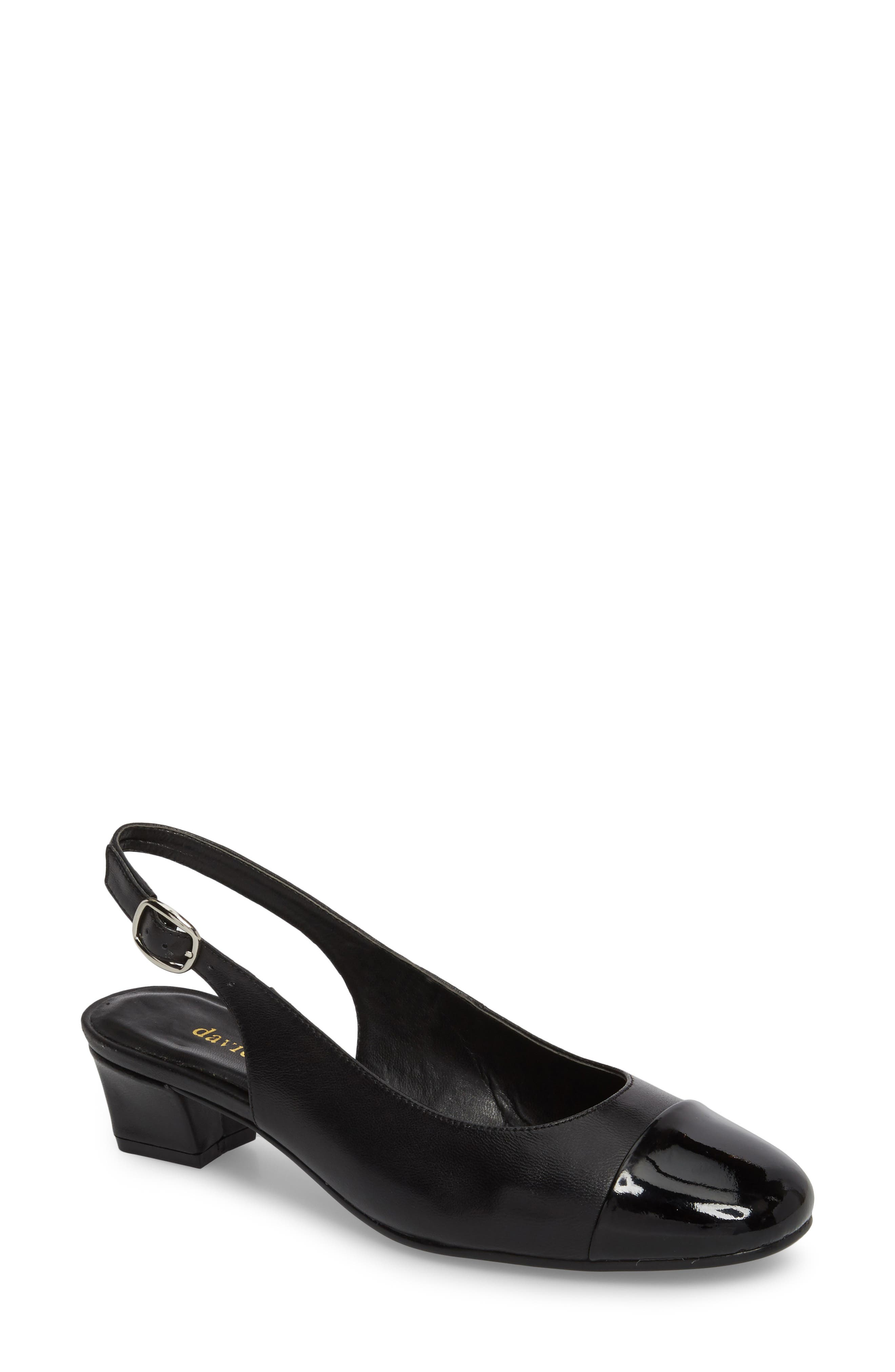 Glorious Slingback Pump,                         Main,                         color, Black Leather