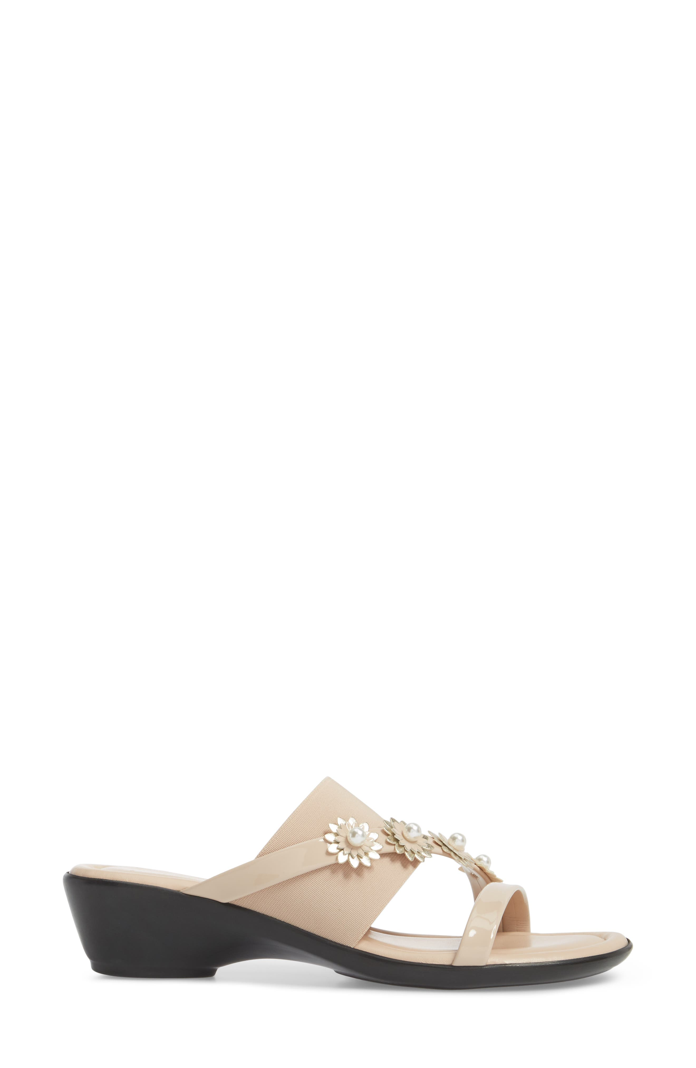 by Easy Street<sup>®</sup> Paradiso Slide Sandal,                             Alternate thumbnail 3, color,                             Nude Patent/ Stretch