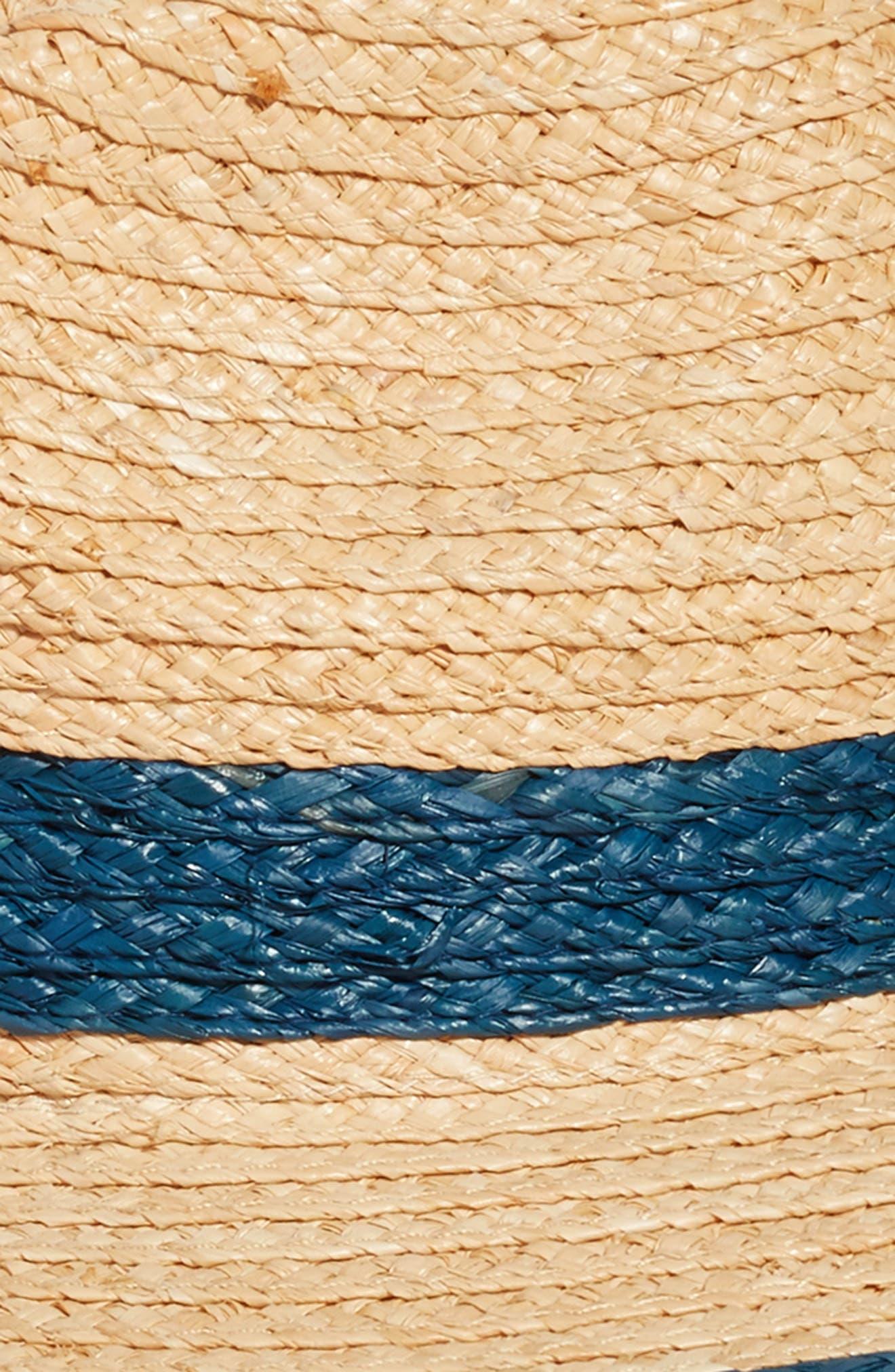 Contrast Trim Straw Panama Hat,                             Alternate thumbnail 2, color,                             Natural Combo