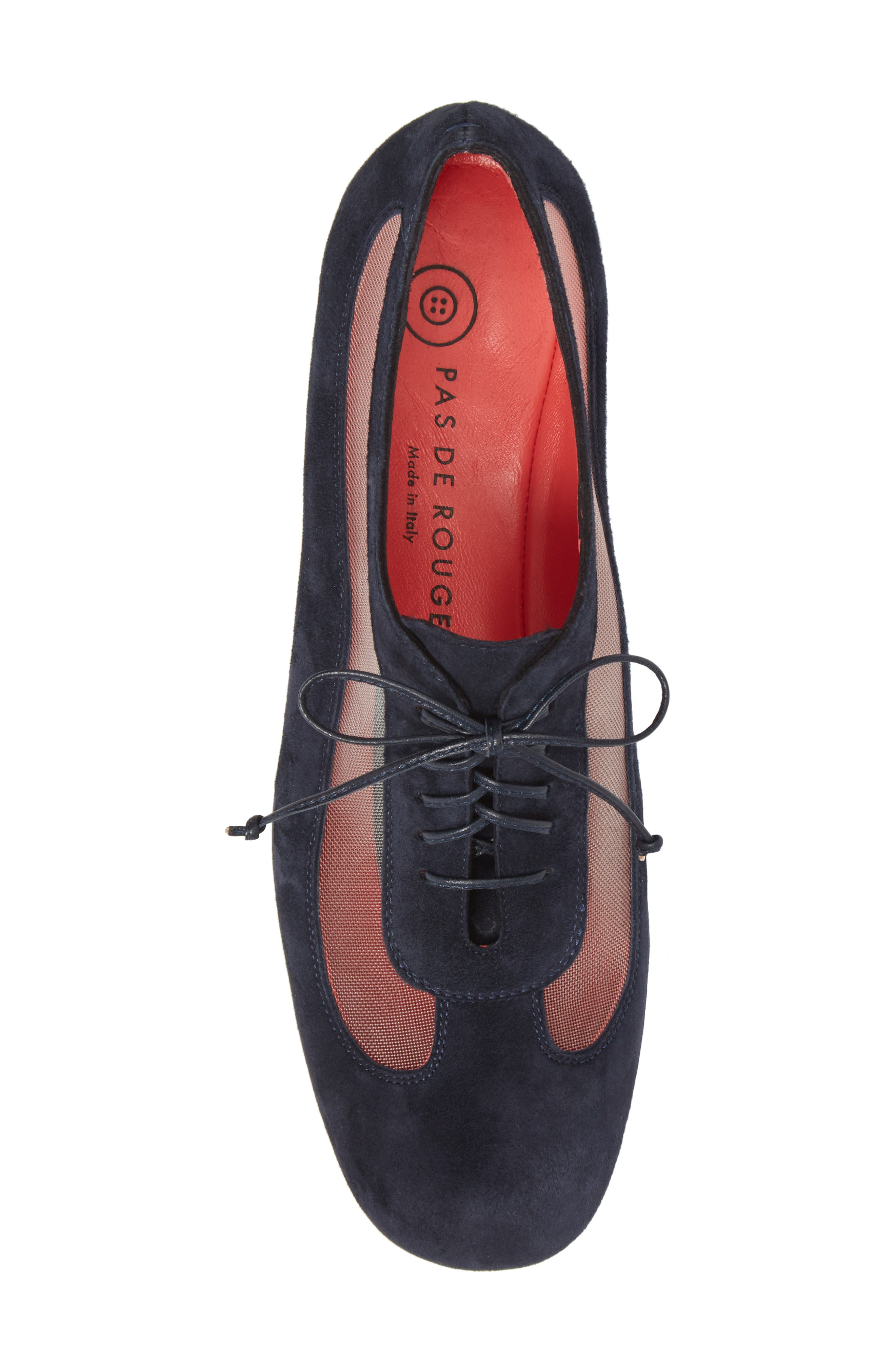 Gipsy Lace Up Skimmer,                             Alternate thumbnail 5, color,                             Blue Suede