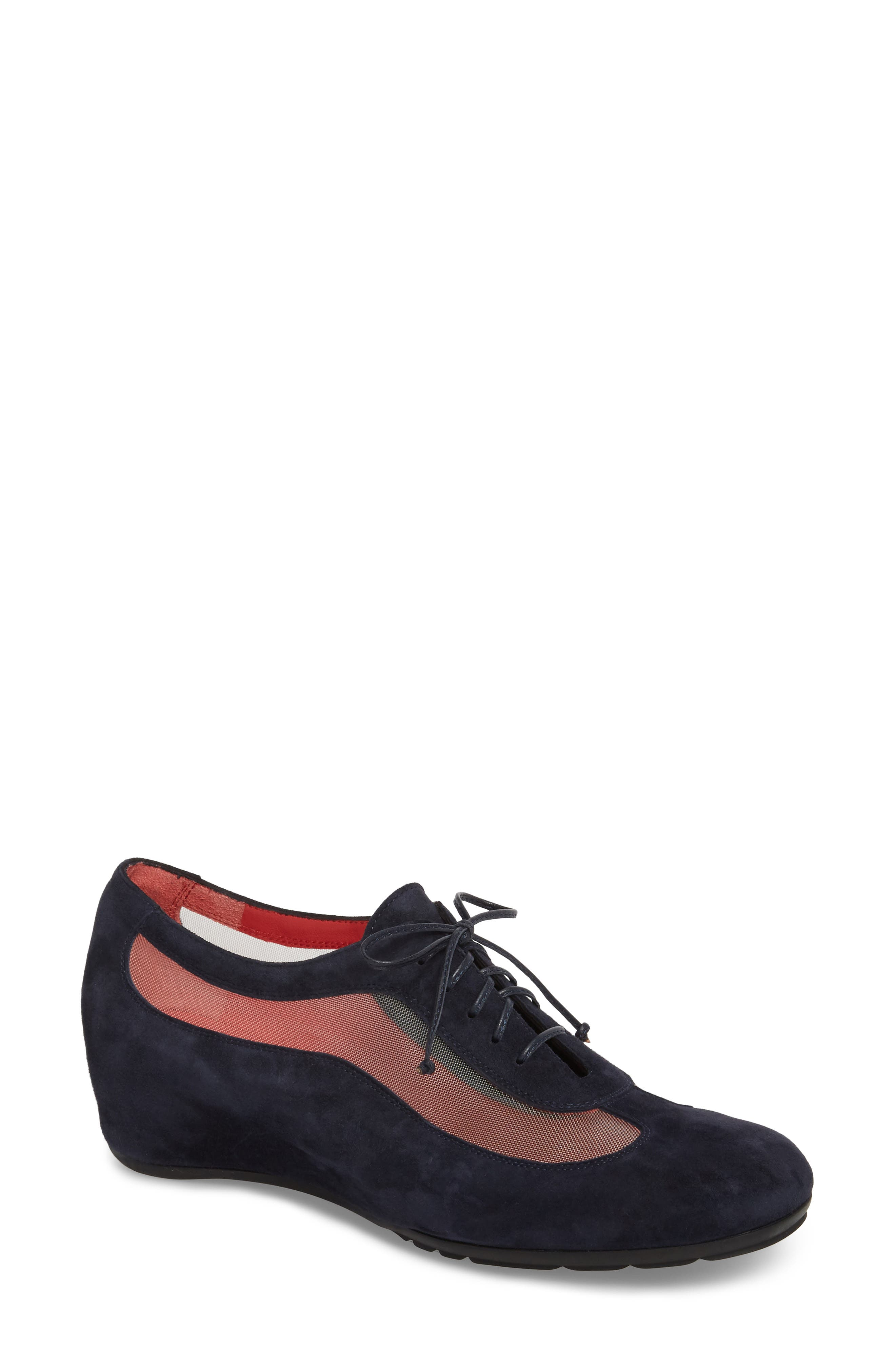 Gipsy Lace Up Skimmer,                             Main thumbnail 1, color,                             Blue Suede