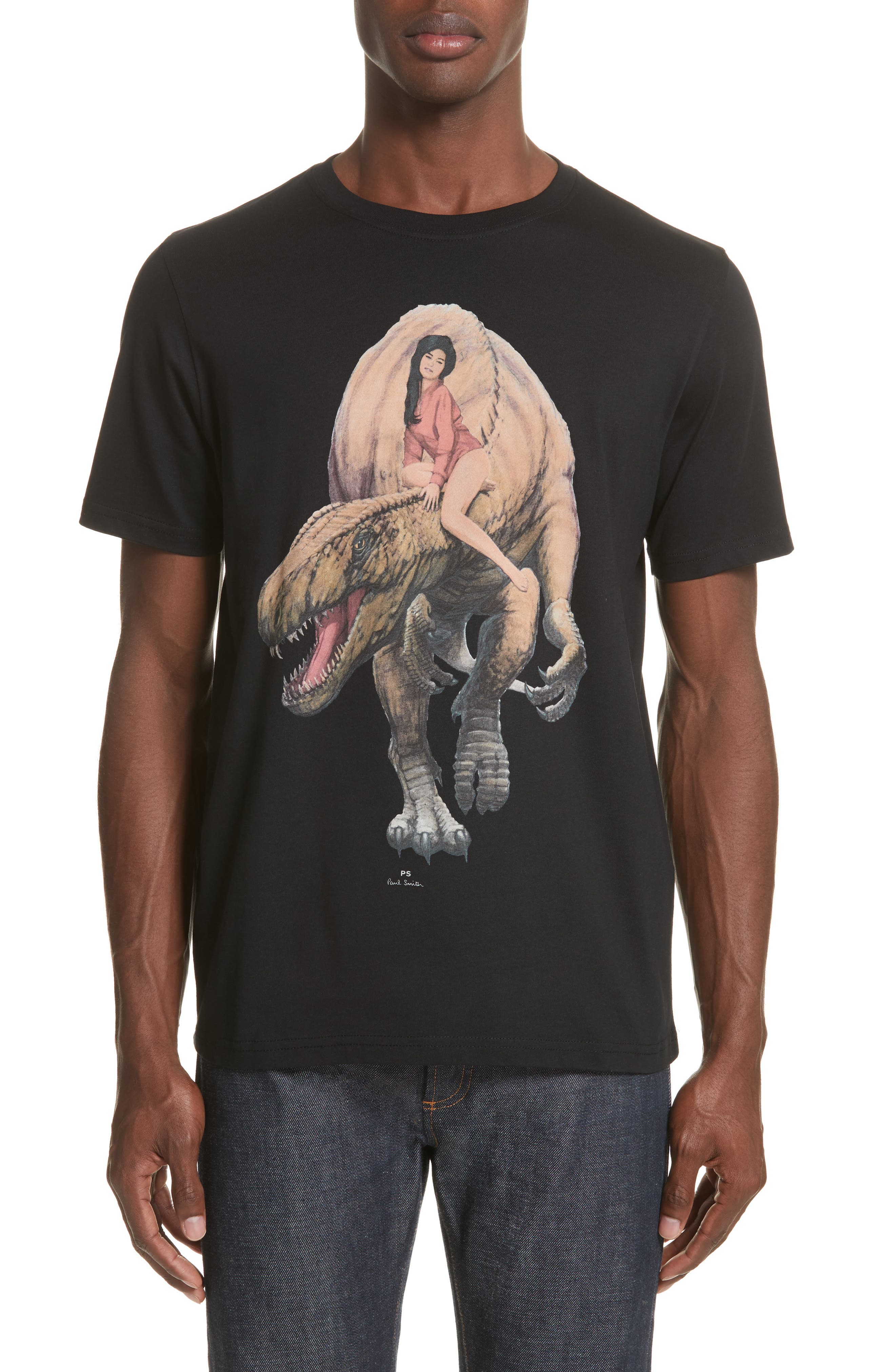 PS Paul Smith Woman with Dinosaur Graphic T-Shirt