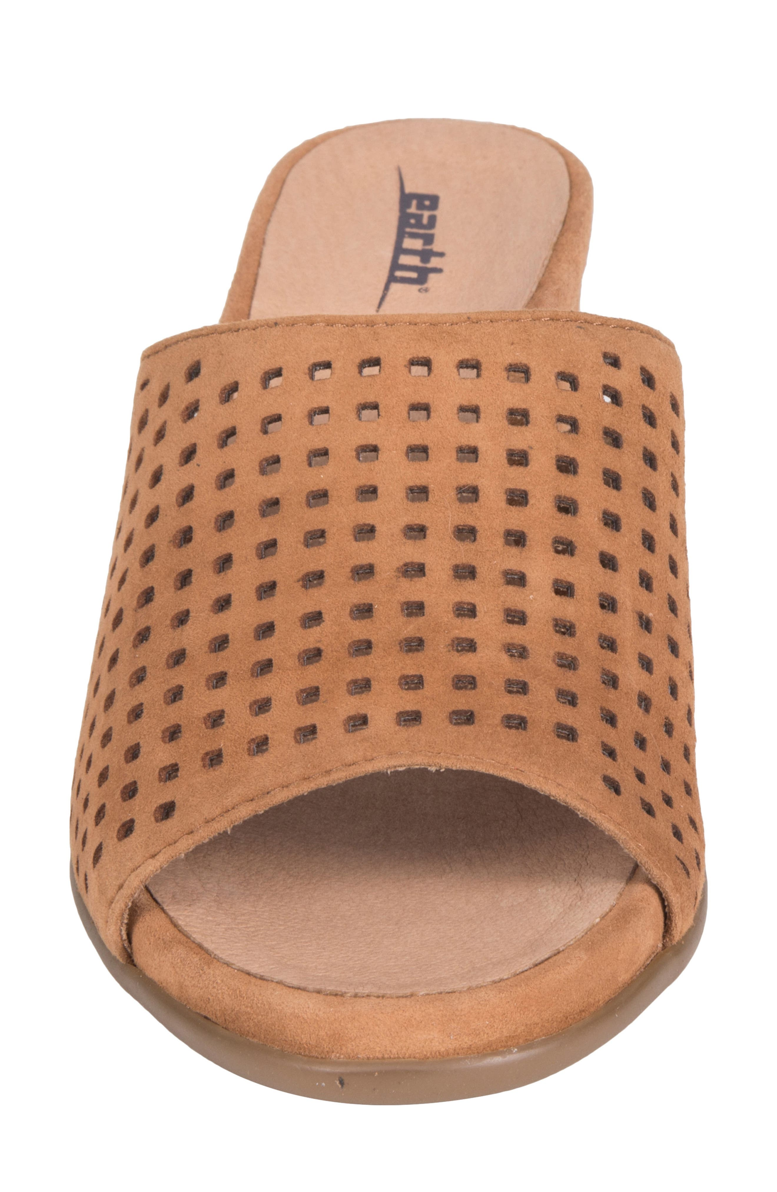 Ibiza Perforated Sandal,                             Alternate thumbnail 4, color,                             Amber Suede