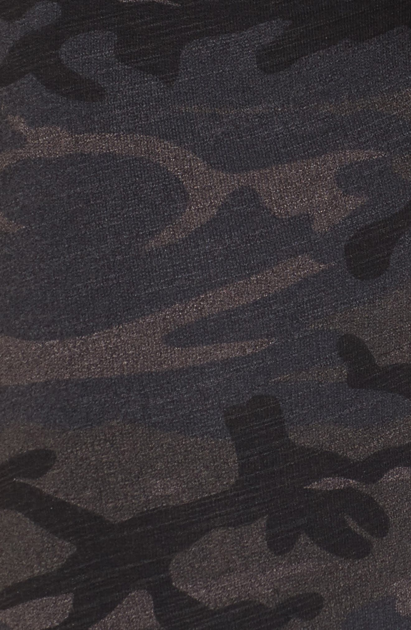 Camo Yoga Pants,                             Alternate thumbnail 6, color,                             Charcoal