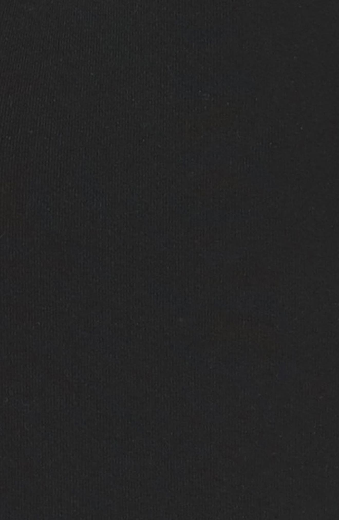 Raw Hem Crop Sweatpants,                             Alternate thumbnail 6, color,                             Blackout
