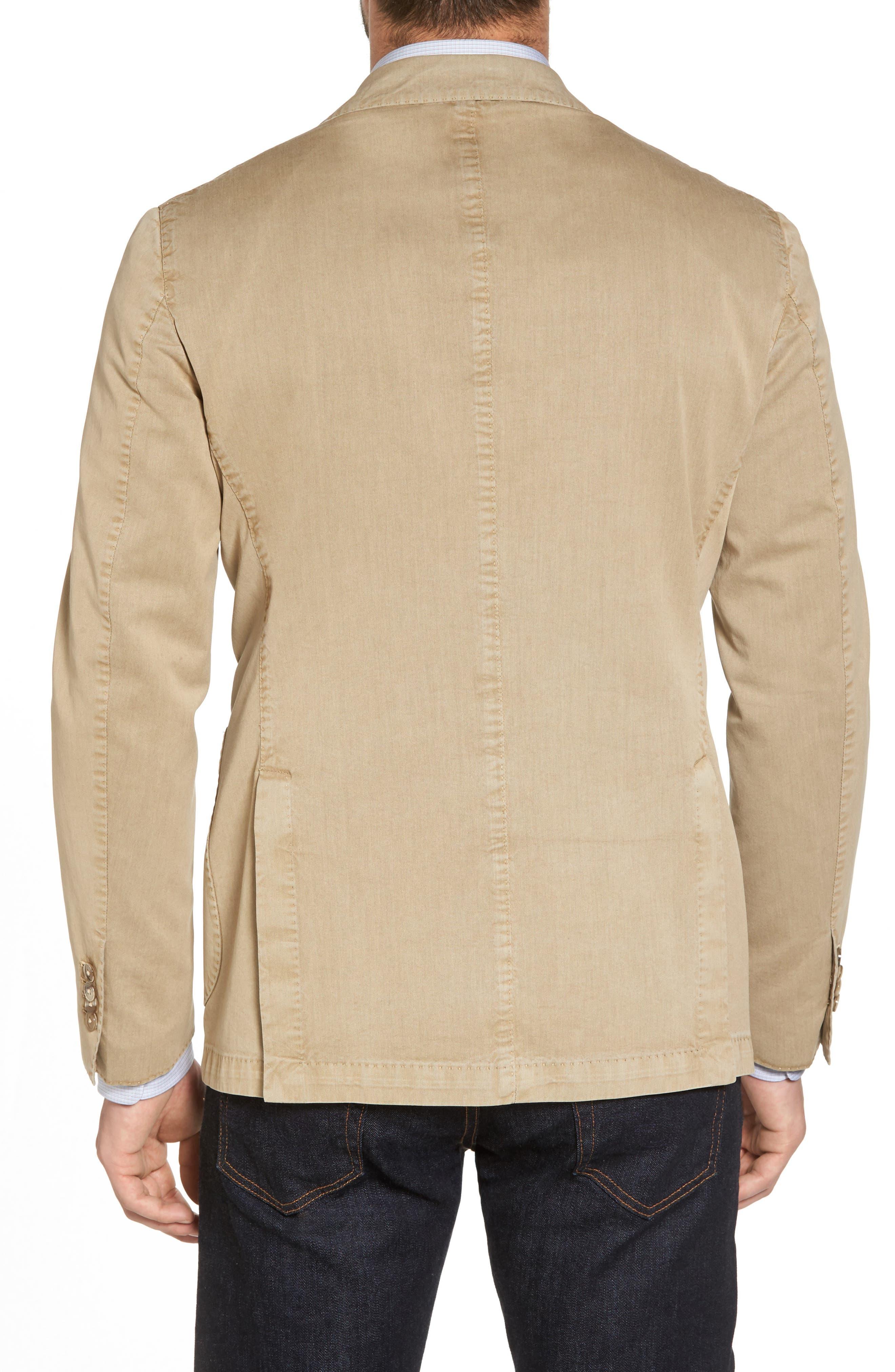 Classic Fit Cotton & Silk Blazer,                             Alternate thumbnail 2, color,                             Beige/ Khaki