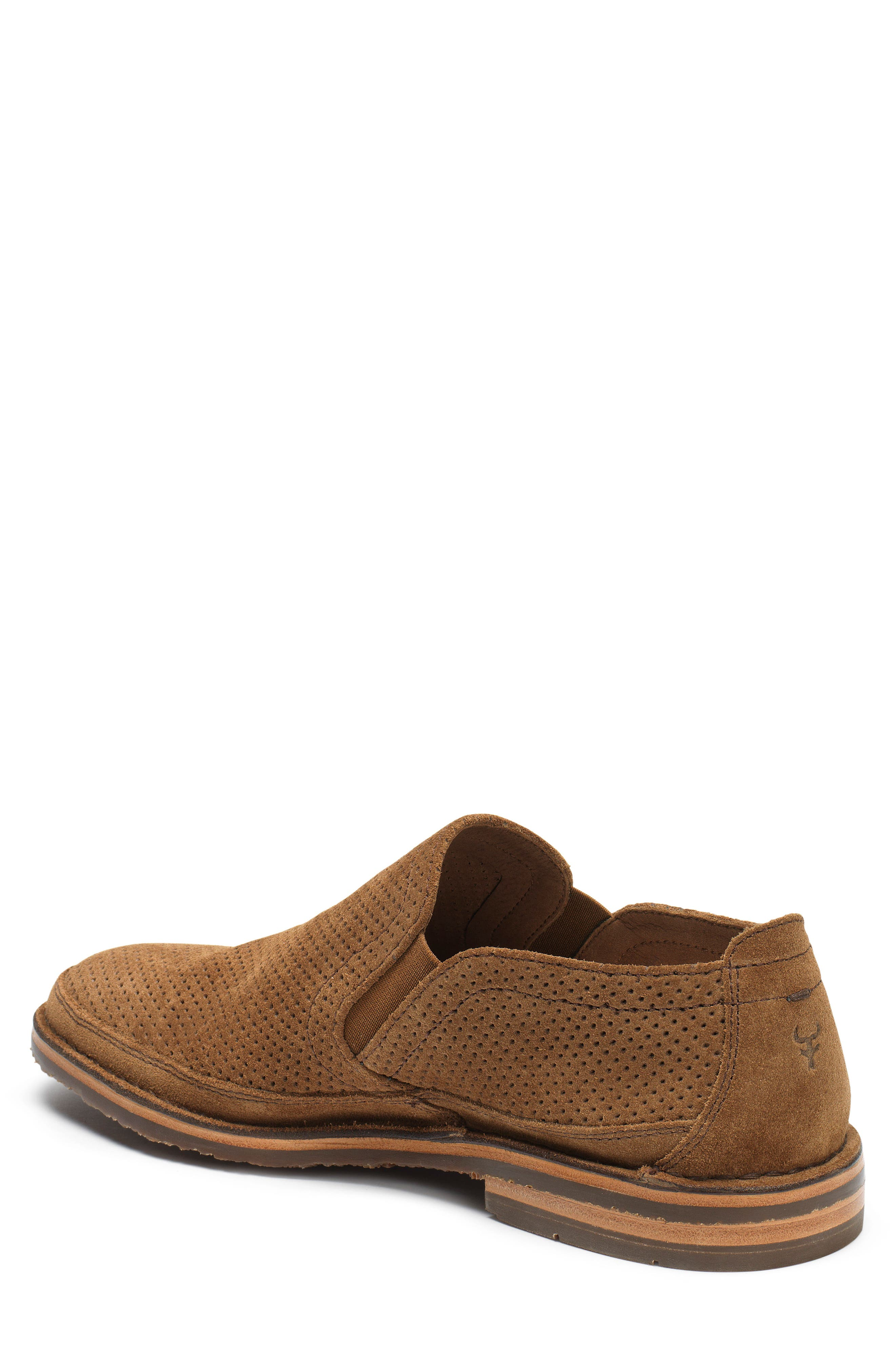 Bradley Perforated Slip-On,                             Alternate thumbnail 2, color,                             Brown Suede