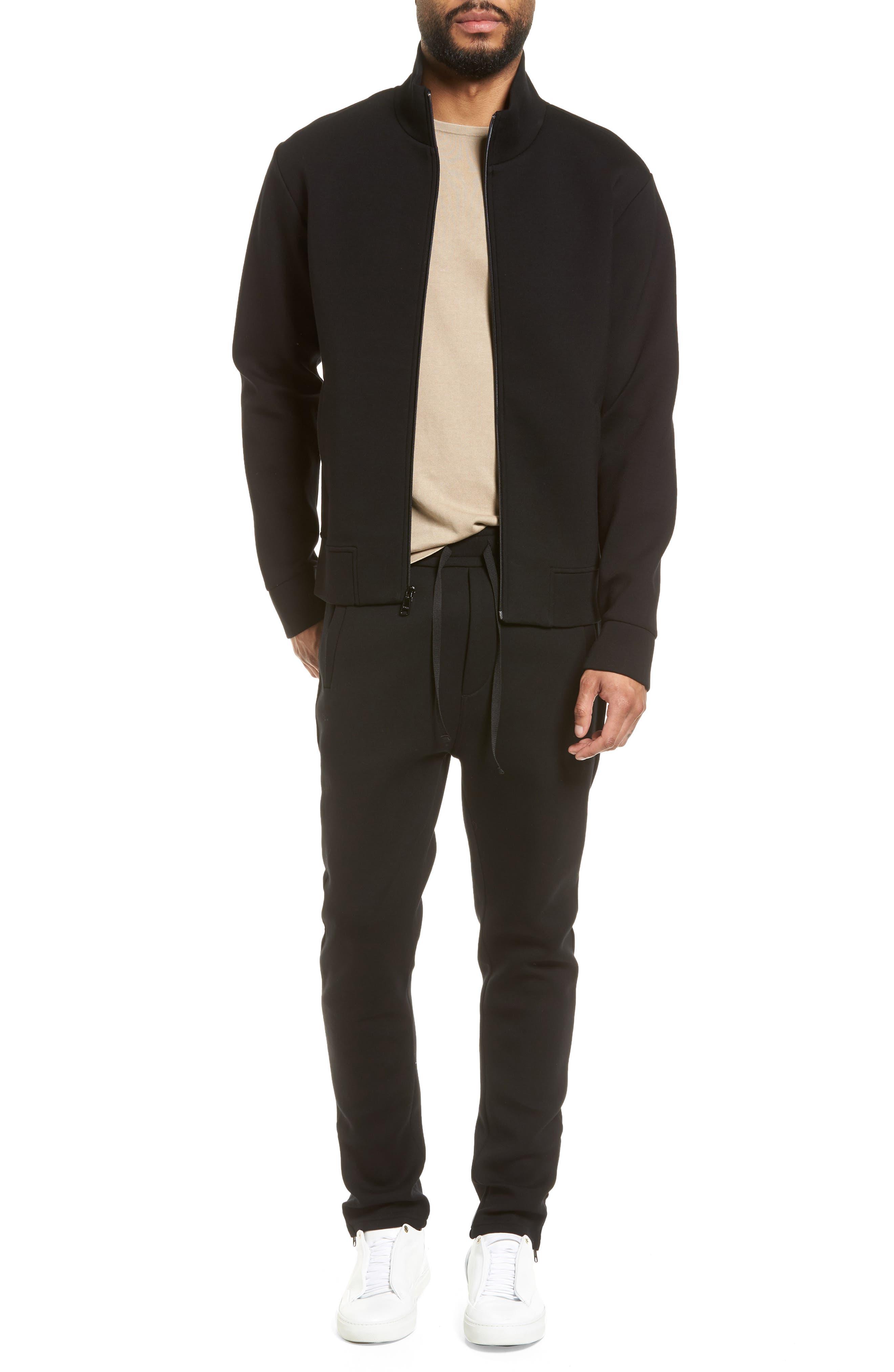 Slim Fit Tech Jacket,                             Alternate thumbnail 7, color,                             Black