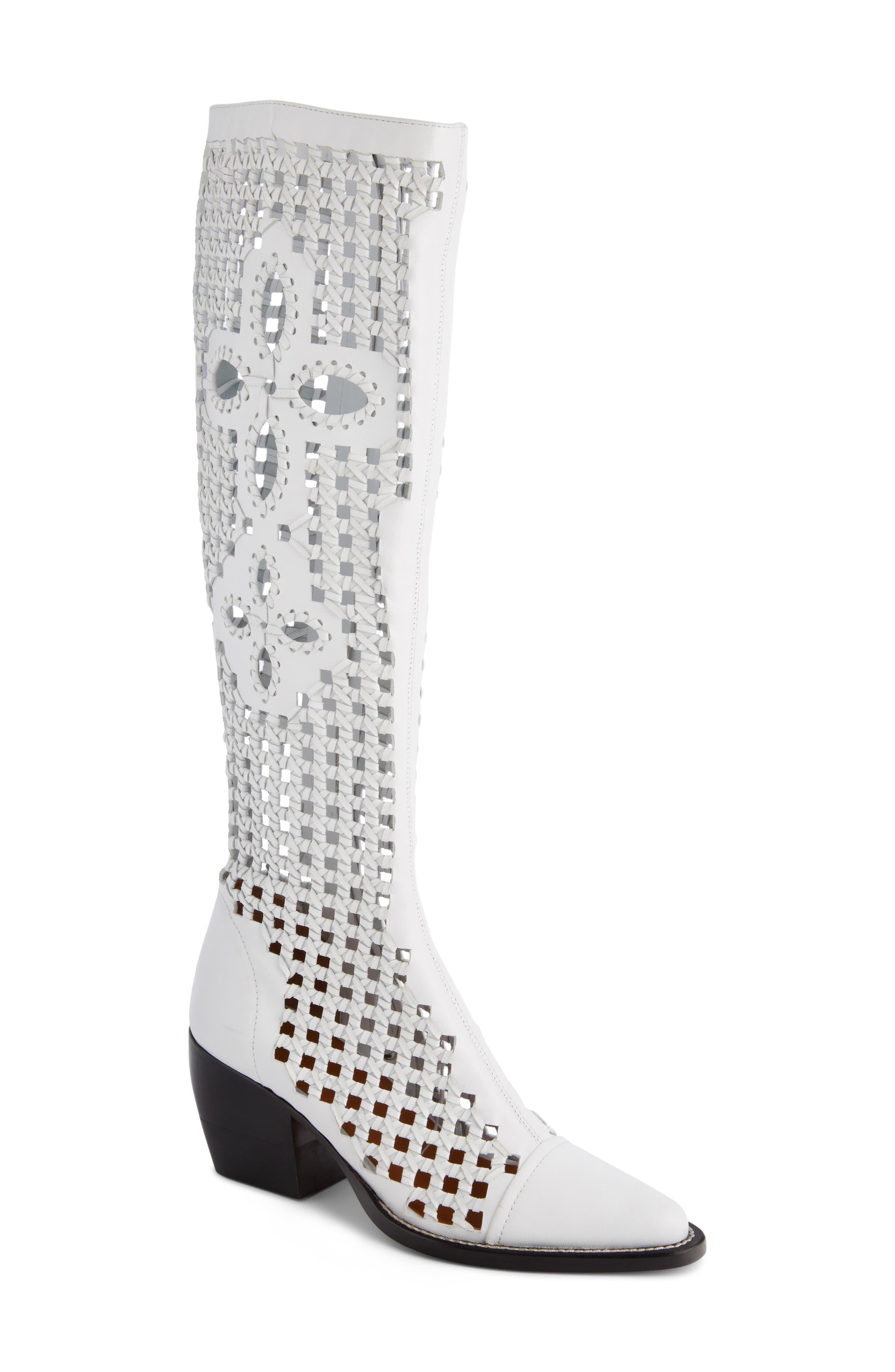 Chloé Rylee Woven Knee High Boot (Women)