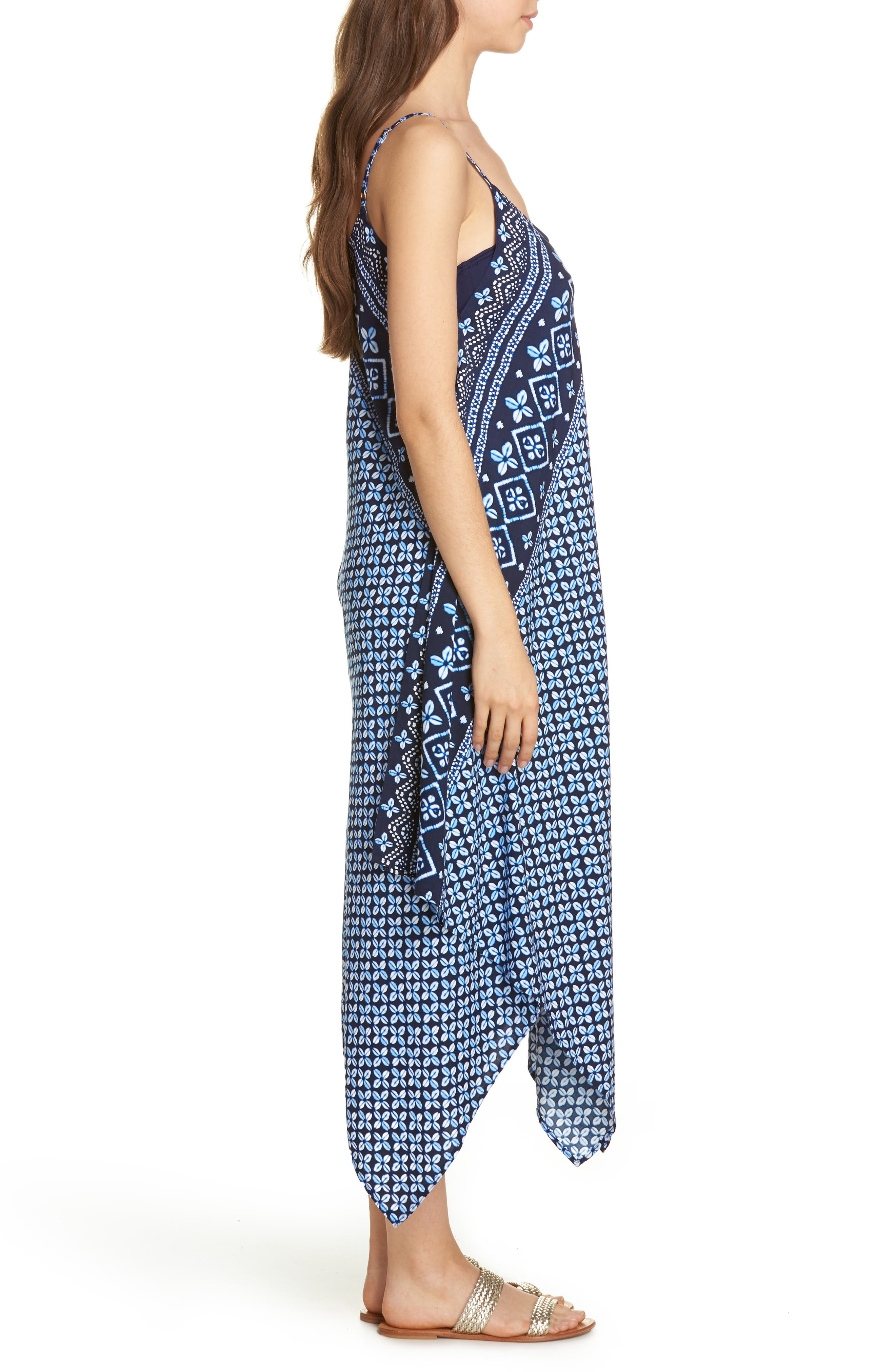 Indigo Cowrie Diamonds Cover-Up Dress,                             Alternate thumbnail 3, color,                             Mare