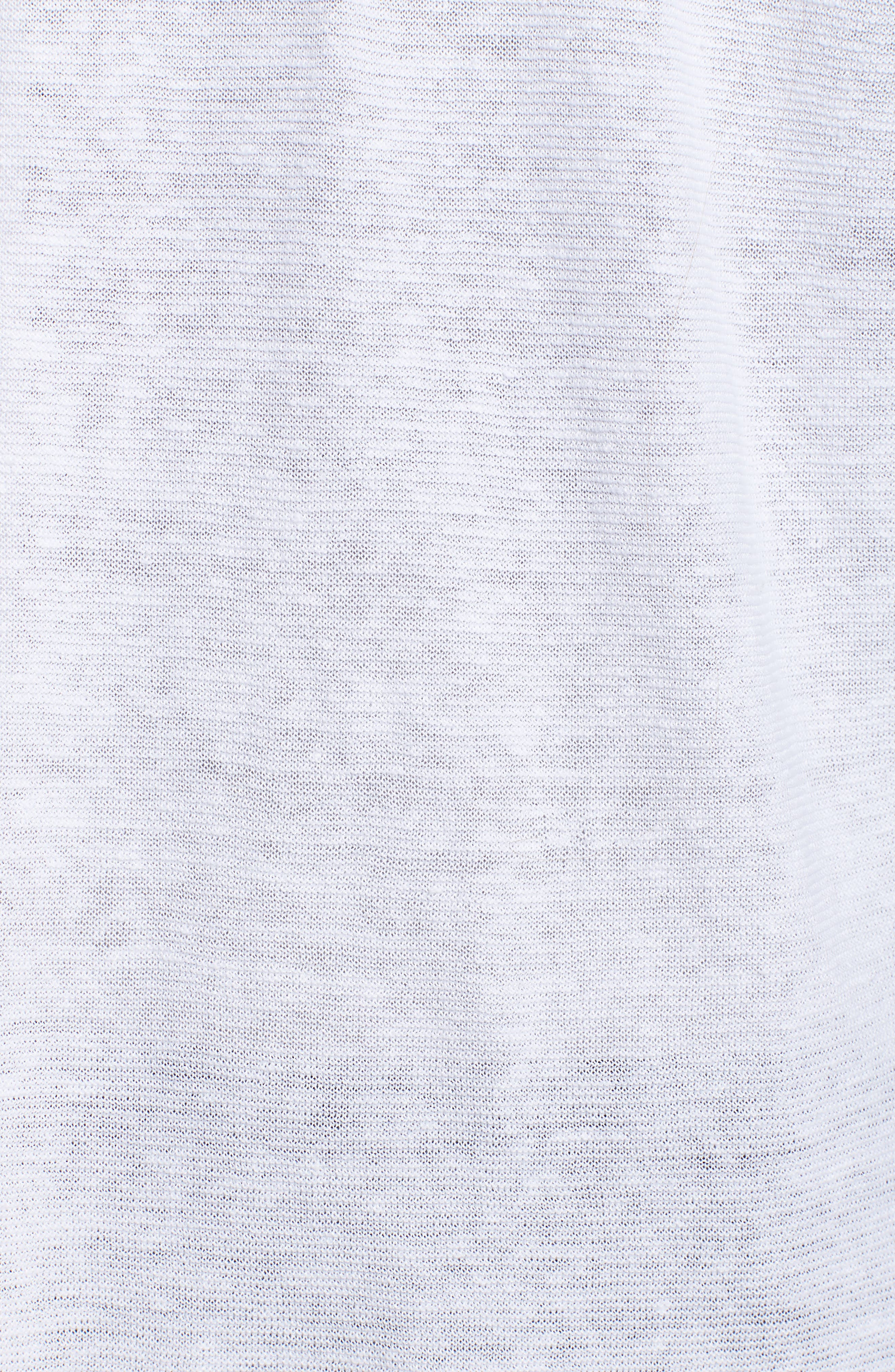 Boxy Organic Linen Cardigan,                             Alternate thumbnail 5, color,                             White