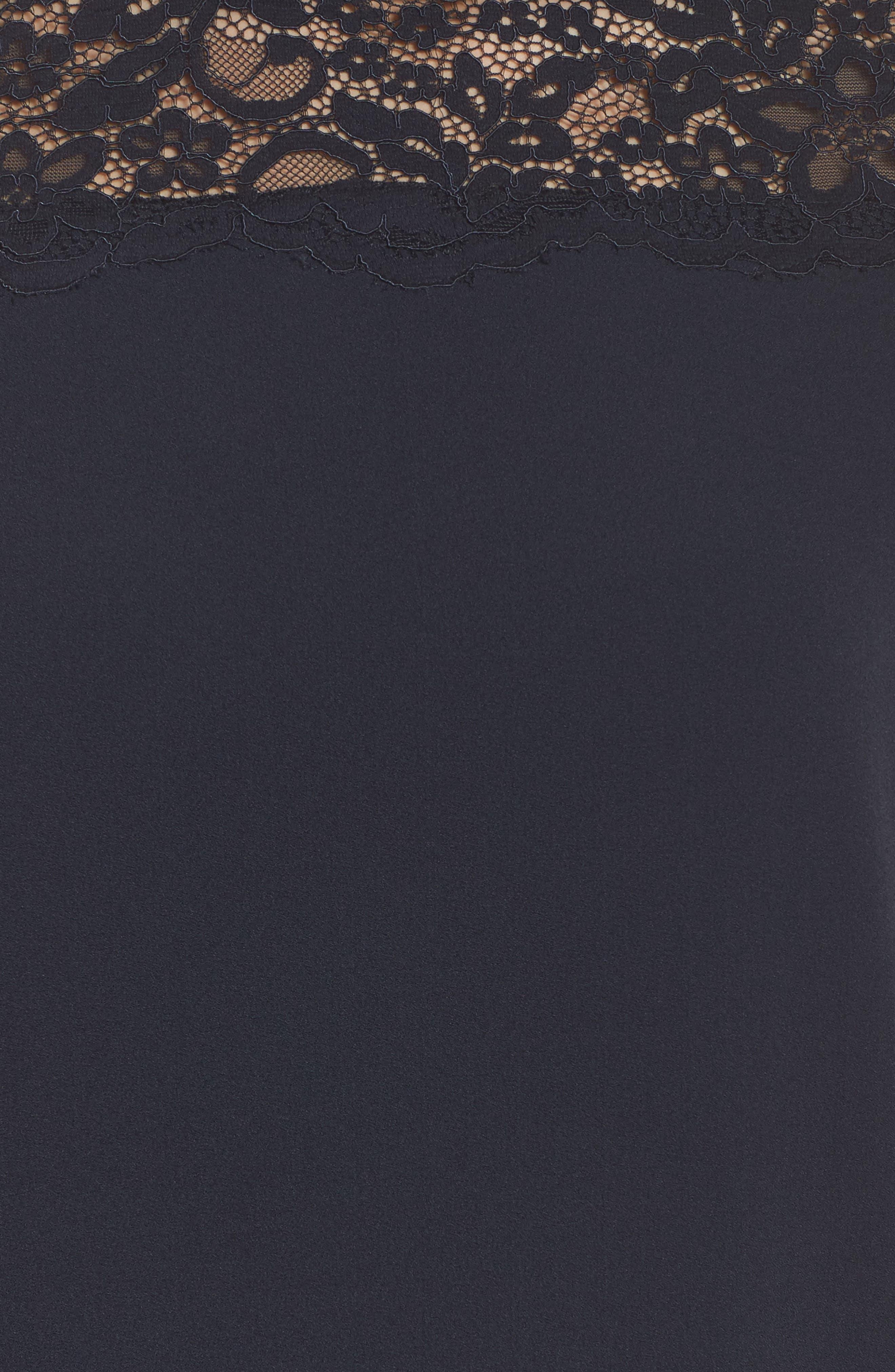 Portofino Lace Detail Shift Dress,                             Alternate thumbnail 5, color,                             Navy