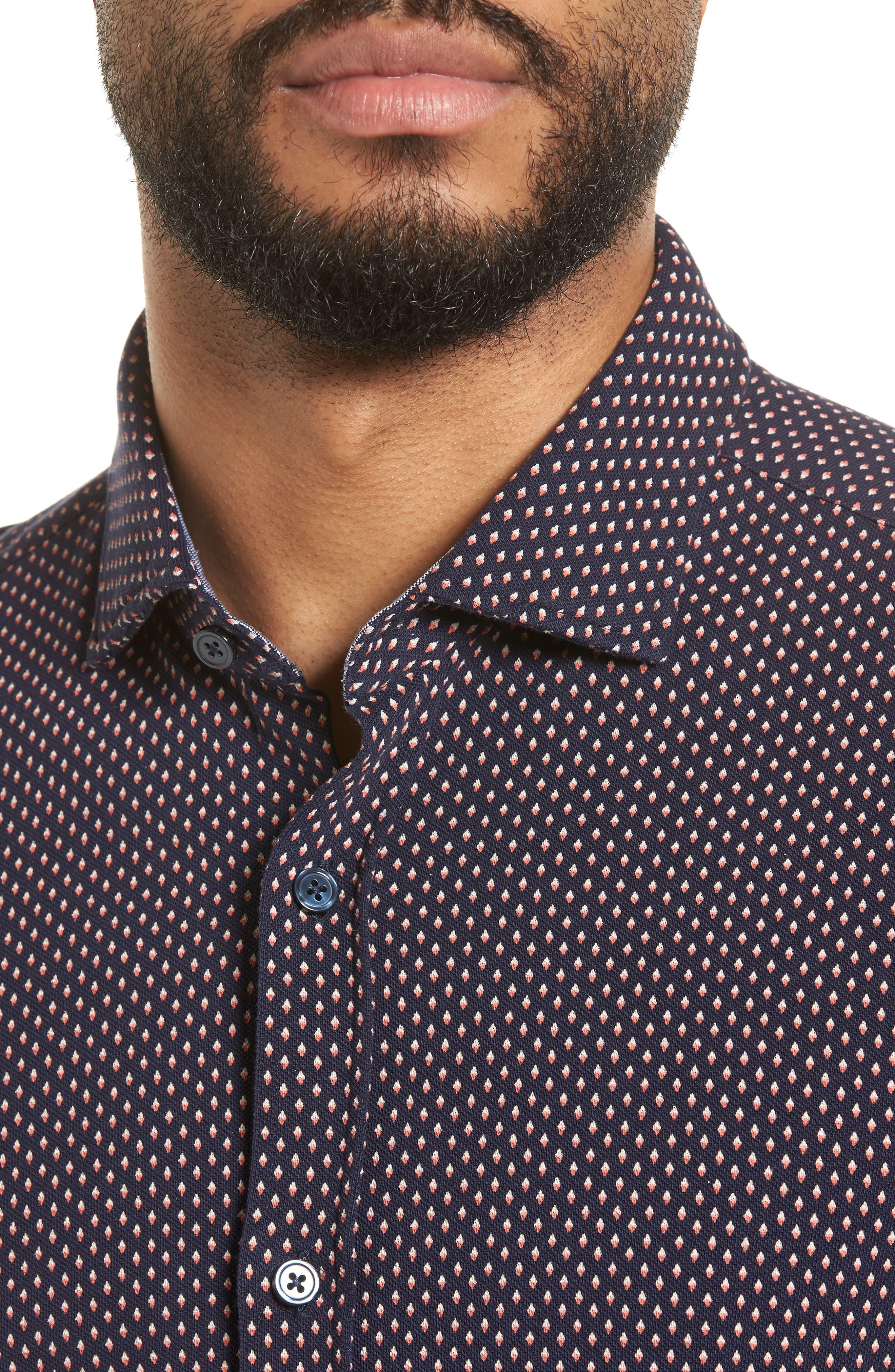Ridley Print Sport Shirt,                             Alternate thumbnail 4, color,                             Blue