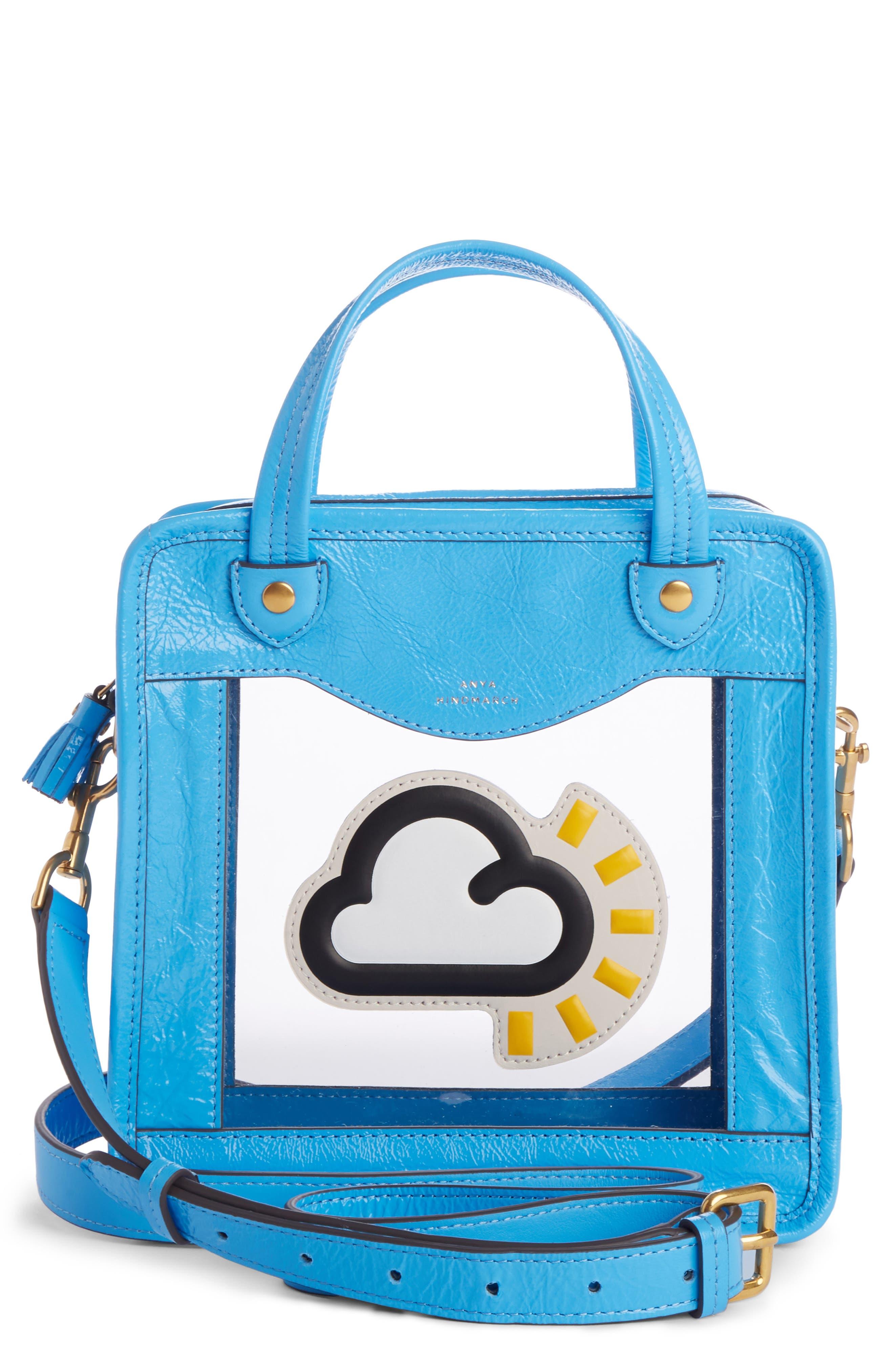 Rainy Day Crossbody Bag,                             Main thumbnail 1, color,                             Blue Quilt