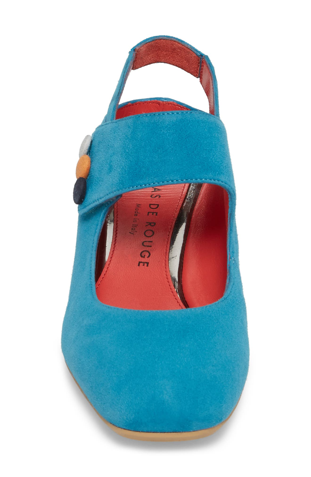 Chantal Pump,                             Alternate thumbnail 4, color,                             Blue Suede