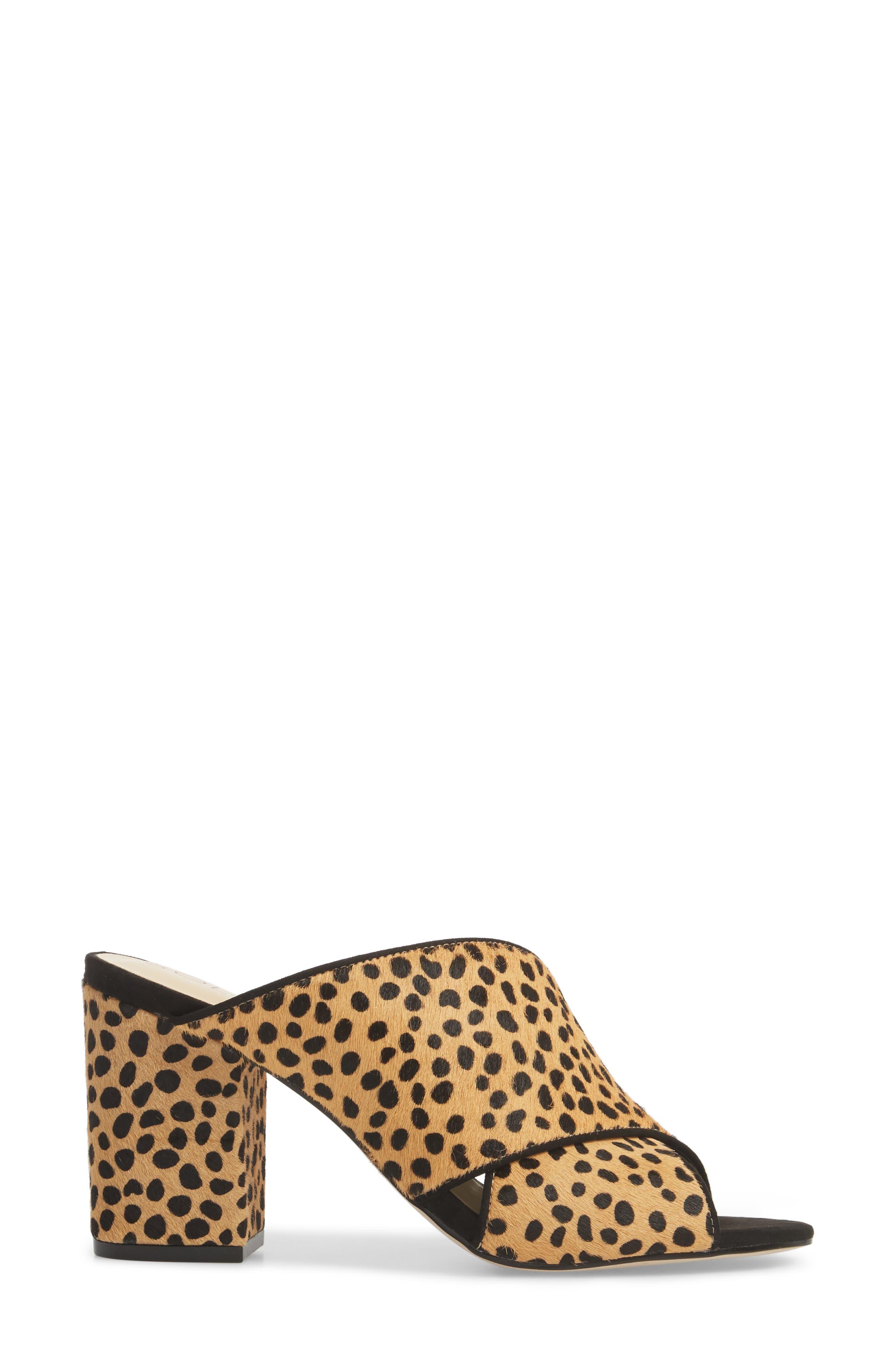 Luella Genuine Calf Hair Slide,                             Alternate thumbnail 3, color,                             Cheetah Dot Haircalf