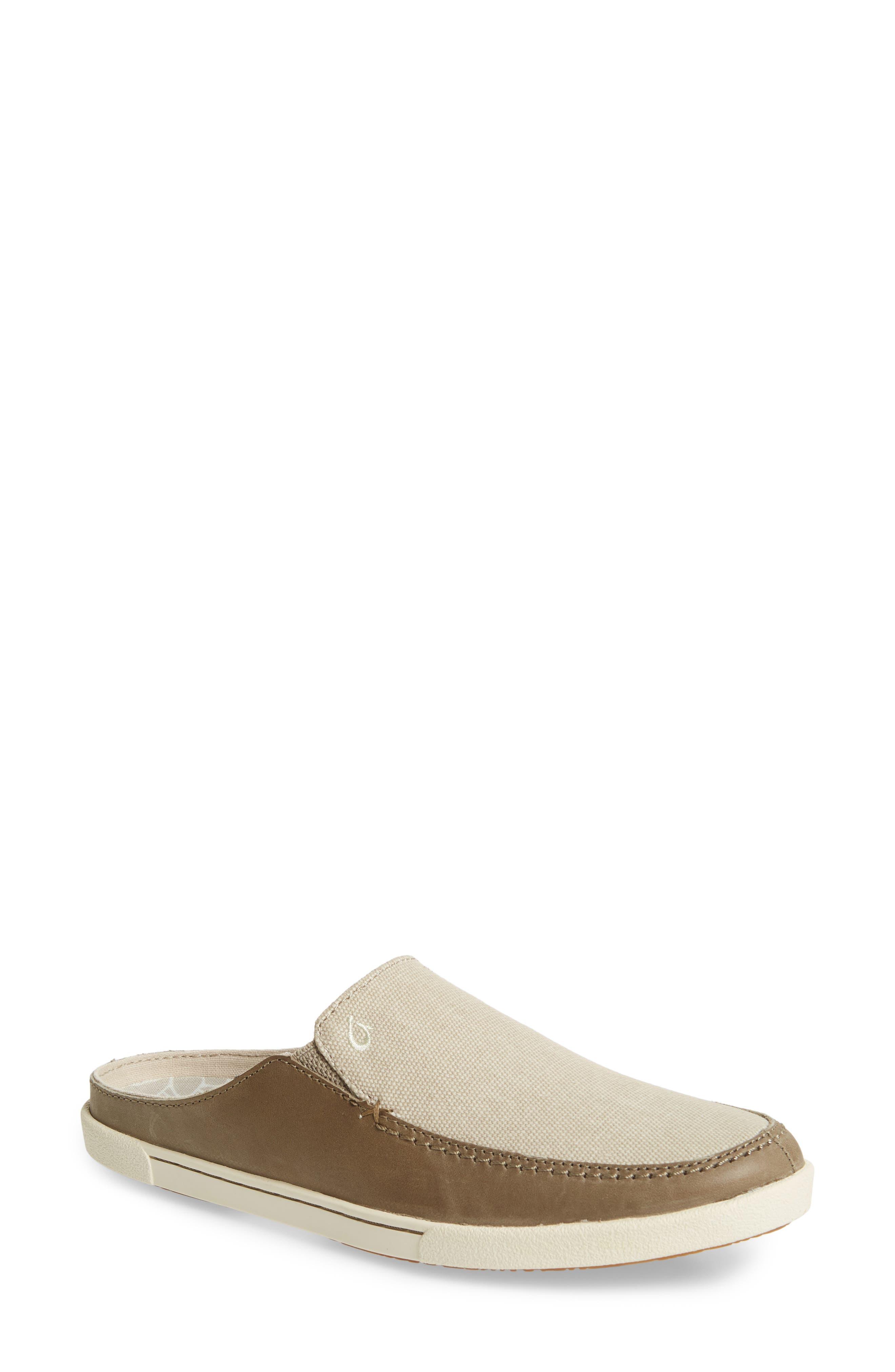 Huaka Mule,                         Main,                         color, Silt/ Tapa Leather