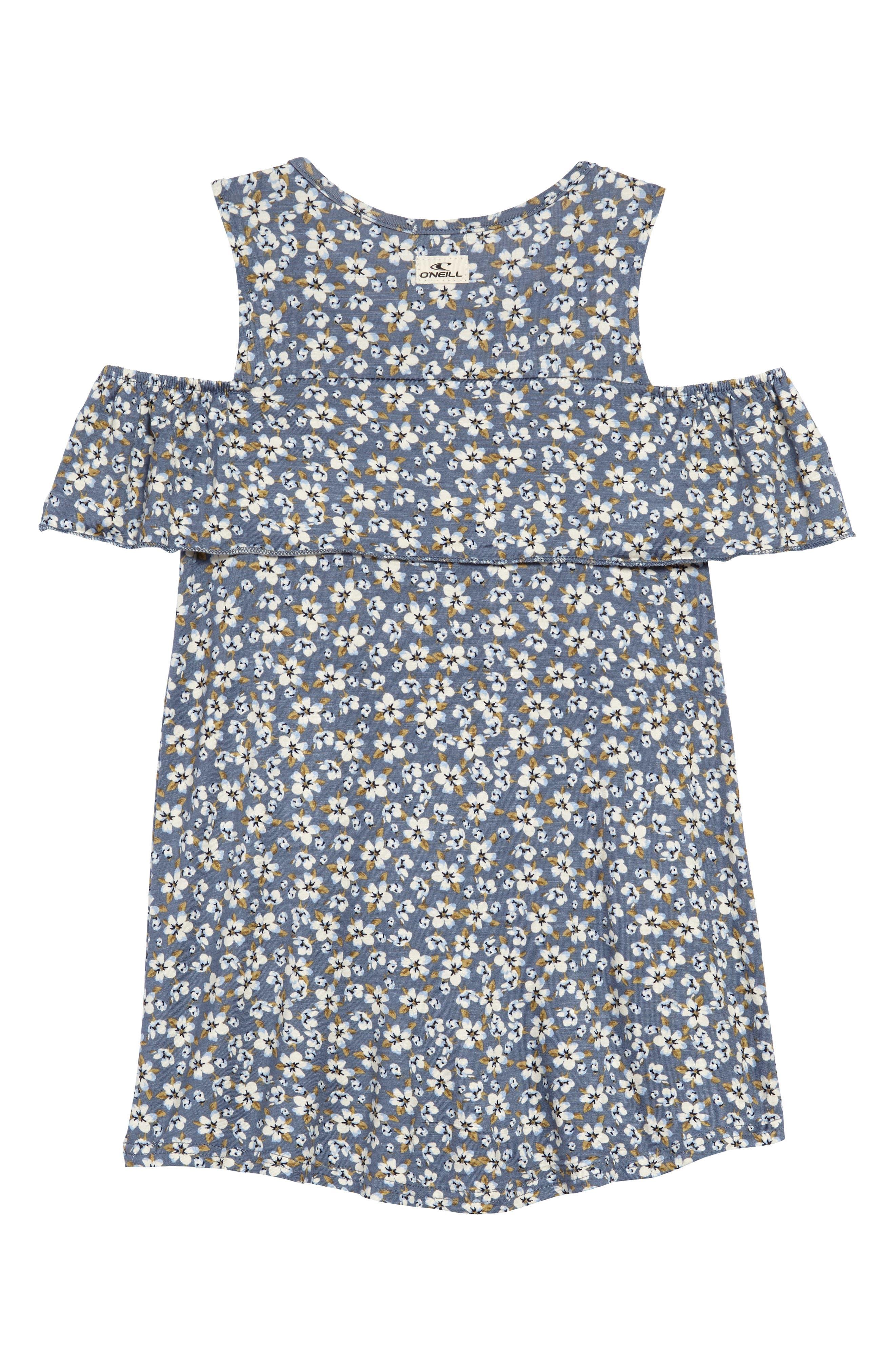 Julia Cold Shoulder Dress,                             Alternate thumbnail 2, color,                             Flint Ston