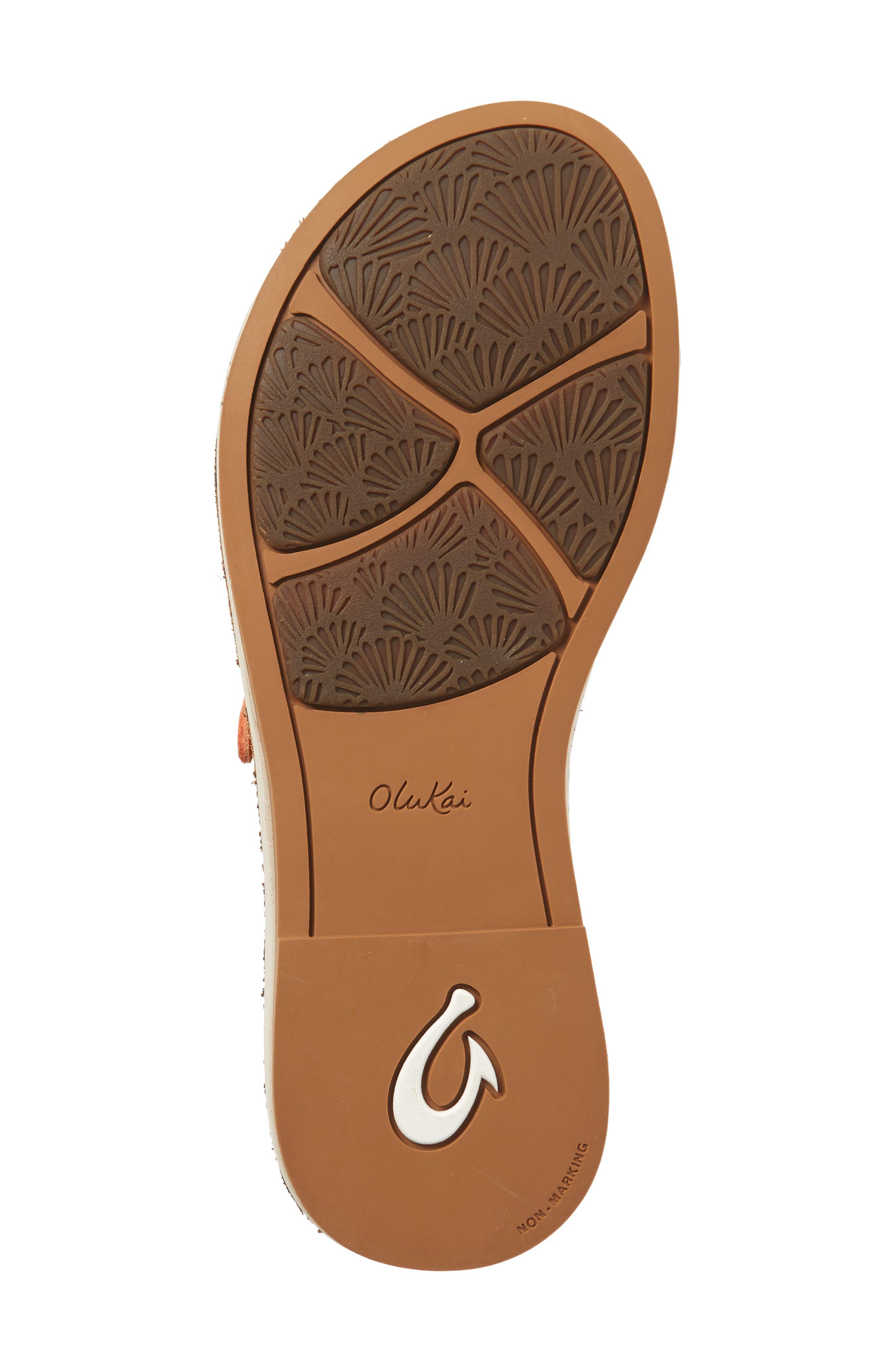 Kahikolu Flip Flop,                             Alternate thumbnail 6, color,                             Peach/ Tan Leather