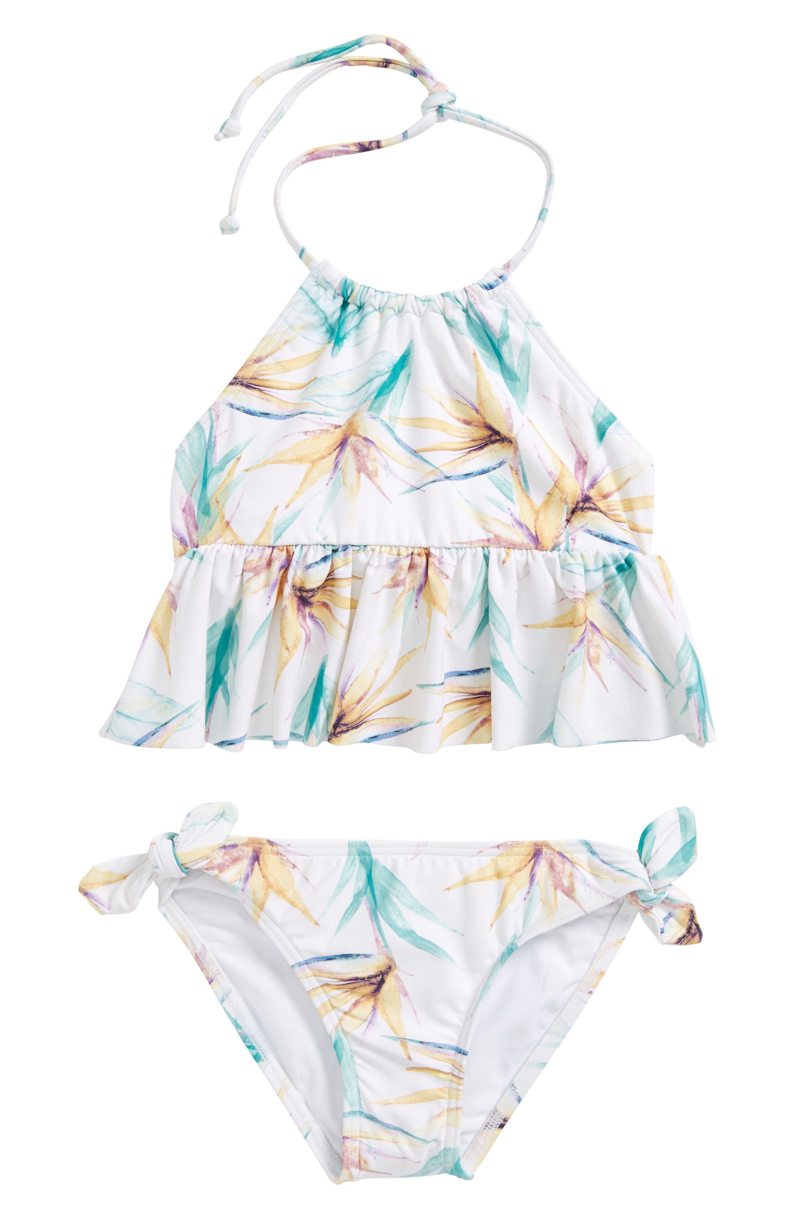 O'Neill Paradise Ruffle Two-Piece Tankini Swimsuit (Toddler Girls & Little Girls)