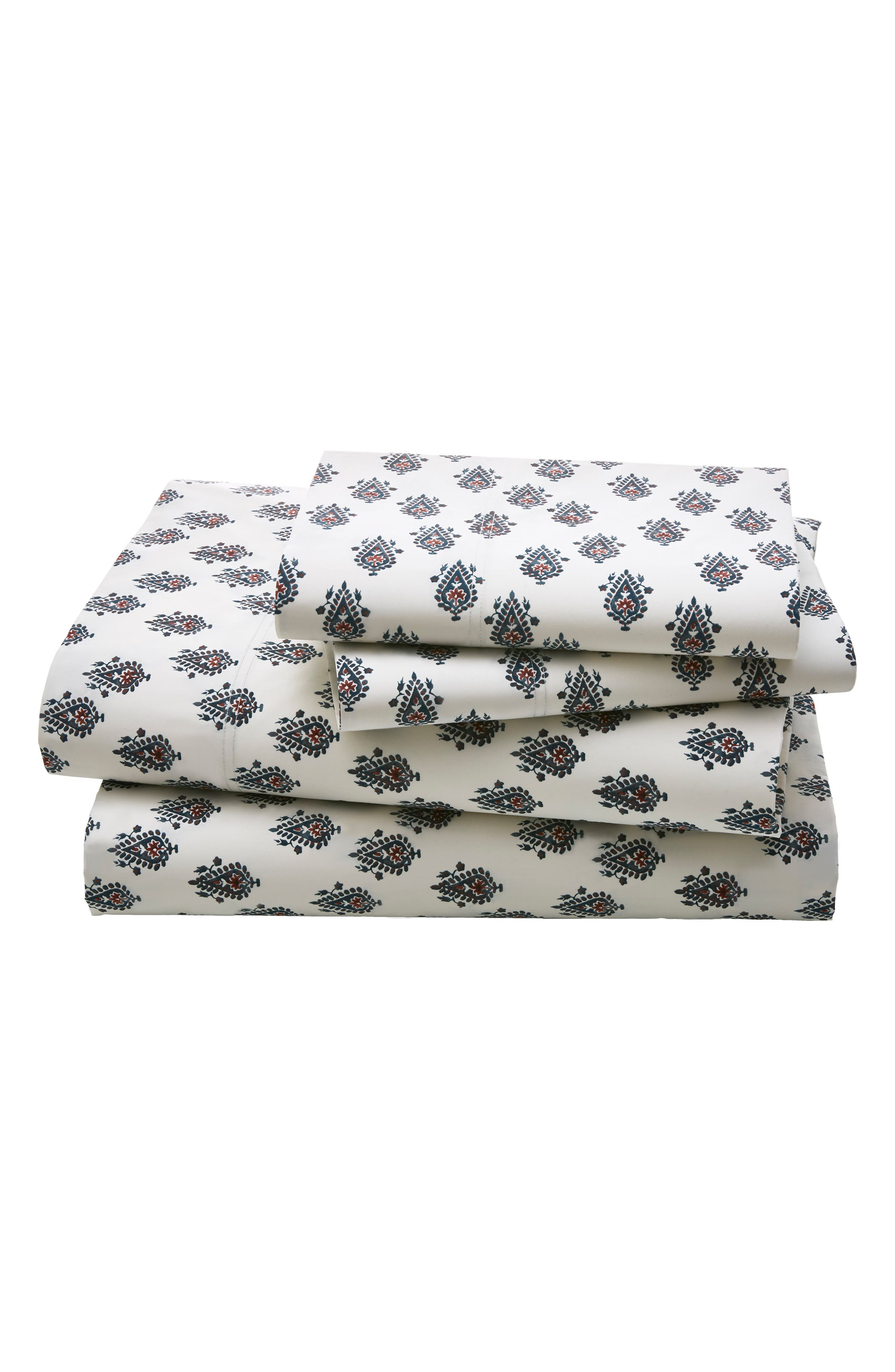 DwellStudio Flame Paisley 300 Thread Count Sheet Set