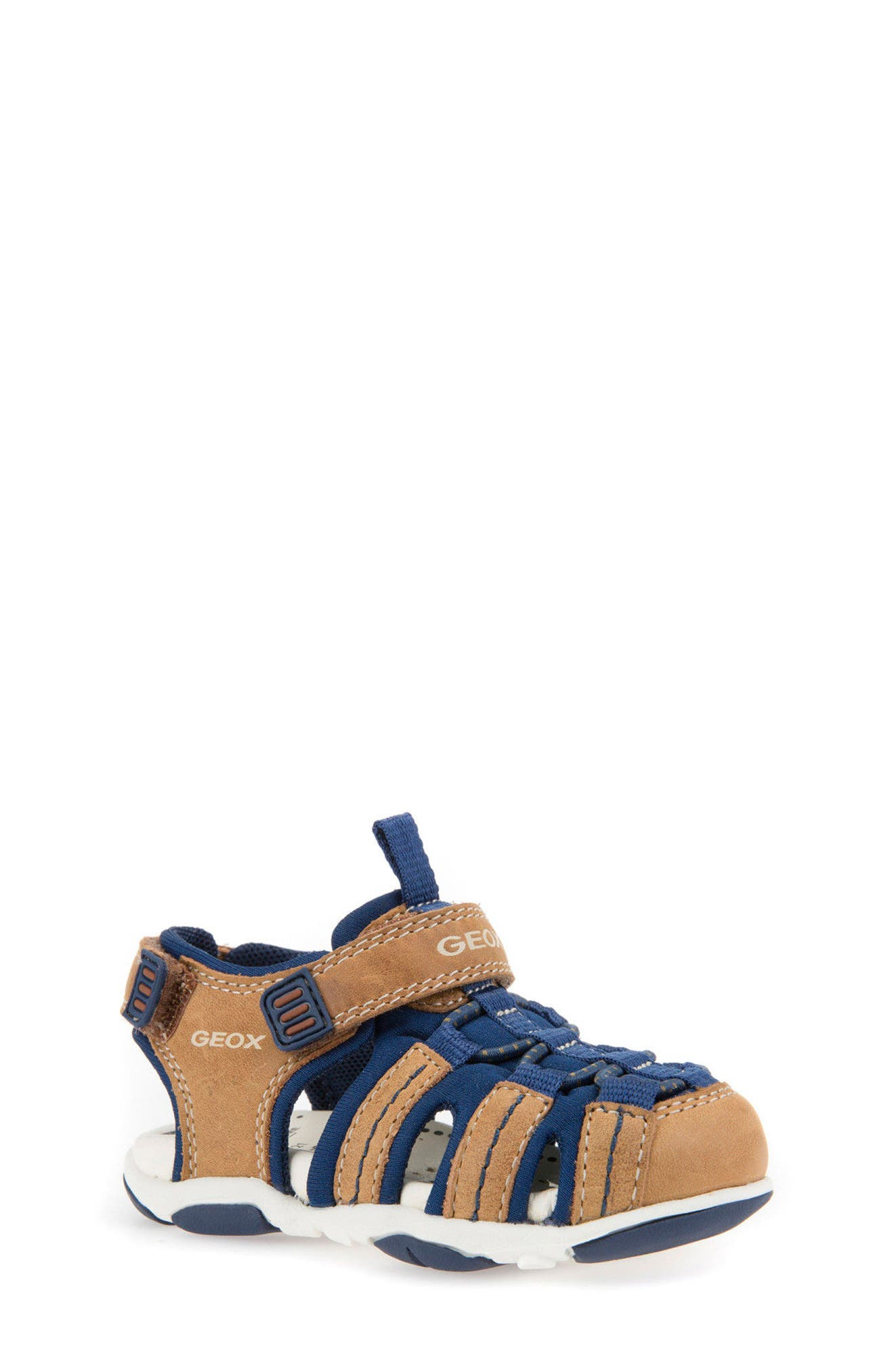 Agasim Fisherman Sandal,                             Main thumbnail 1, color,                             Caramel/ Navy