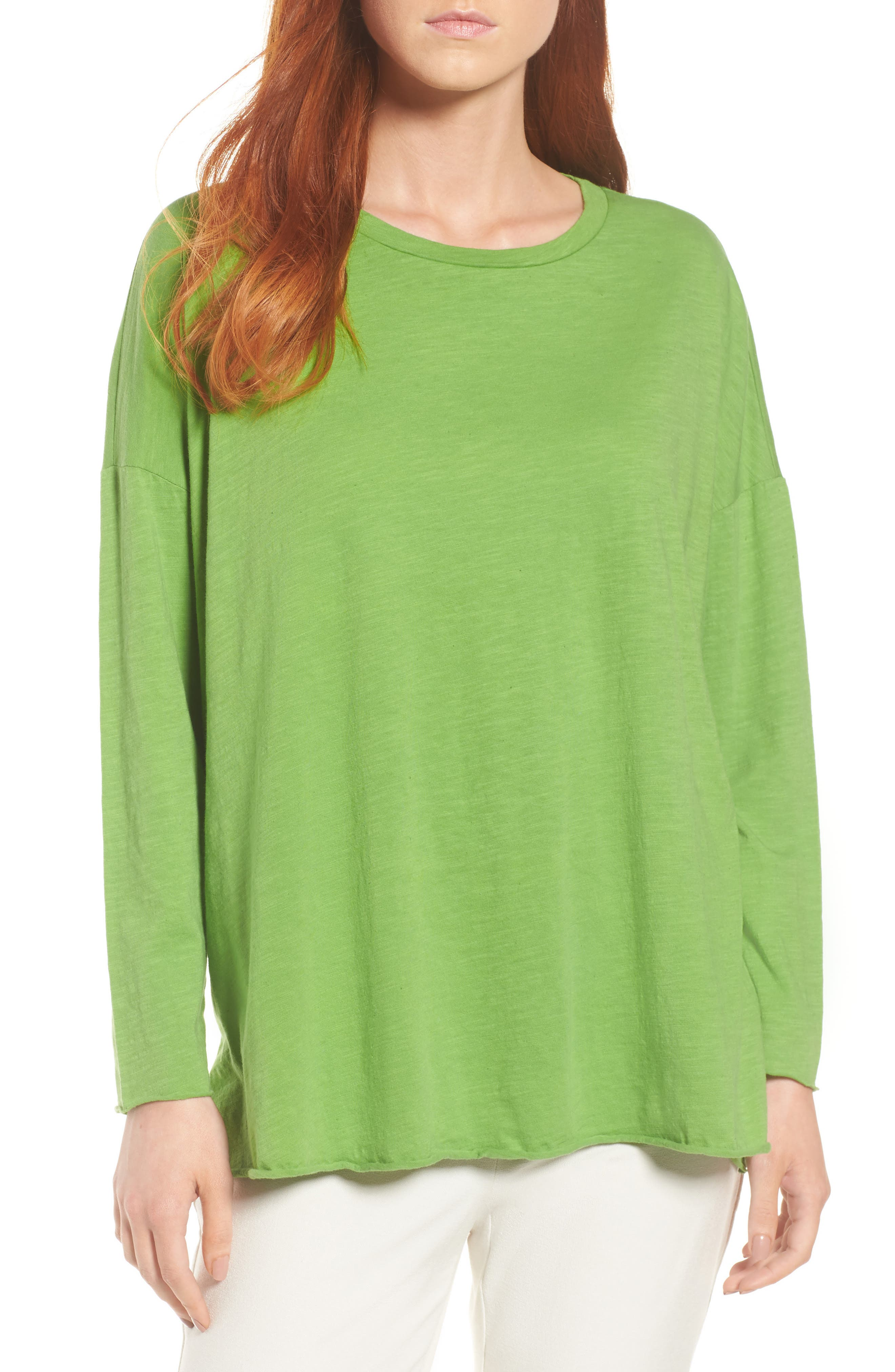 Organic Cotton Knit Top,                         Main,                         color, Apple