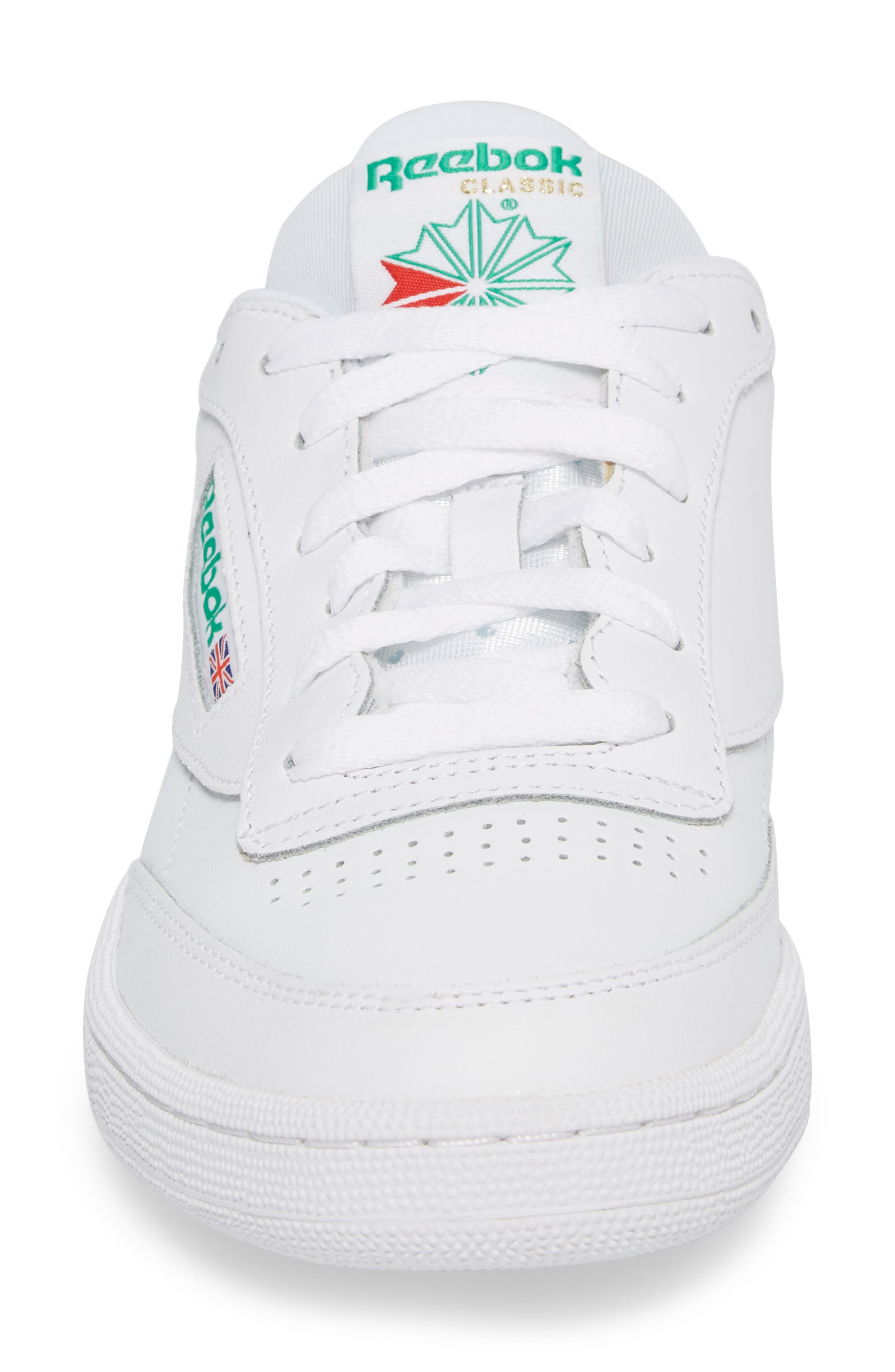 Club C 85 Sneaker,                             Alternate thumbnail 4, color,                             White