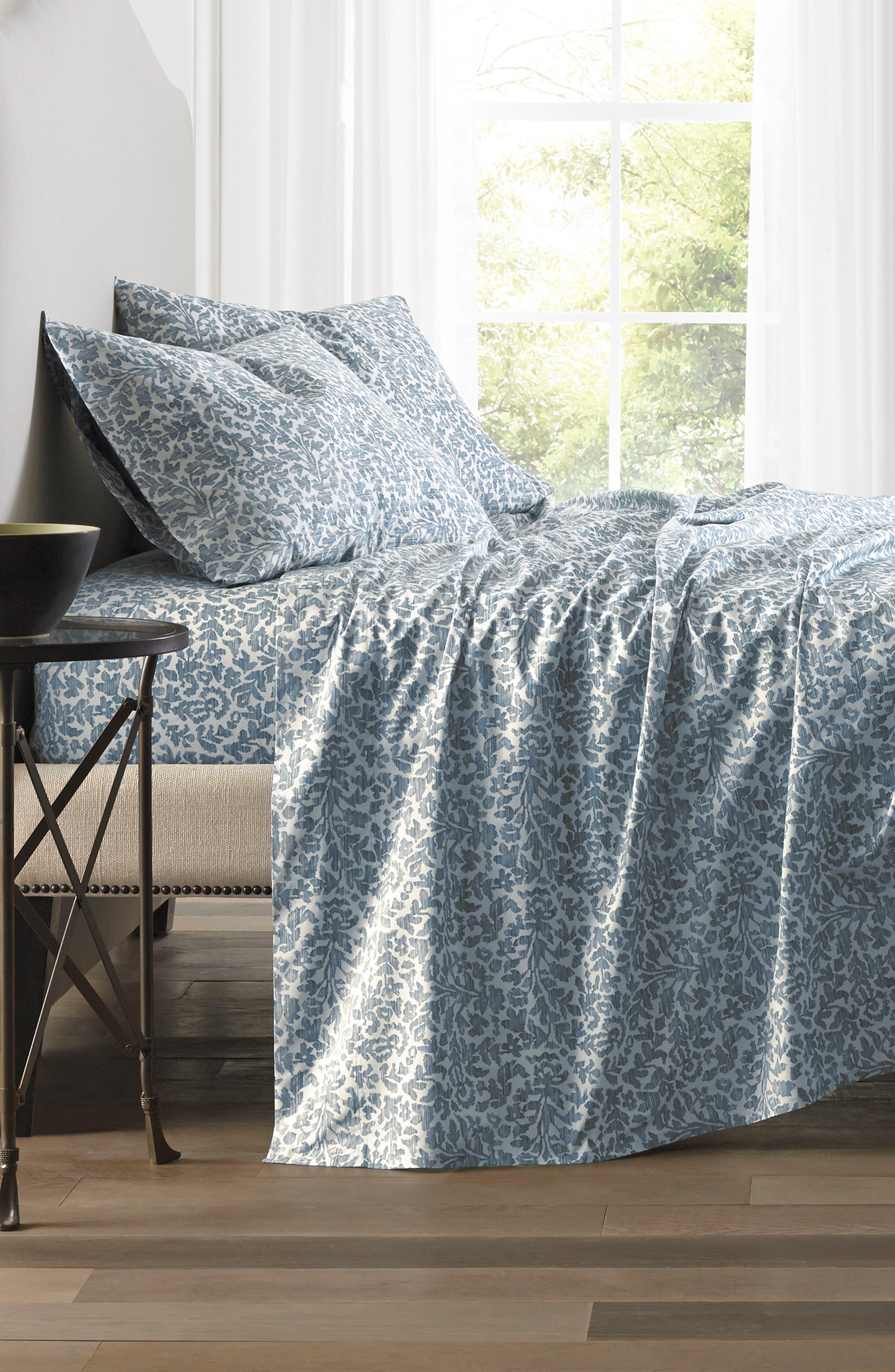 Oaxaca 300 Thread Count Pair of Pillowcases,                             Alternate thumbnail 2, color,                             Azure/ Turquoise/ Aqua