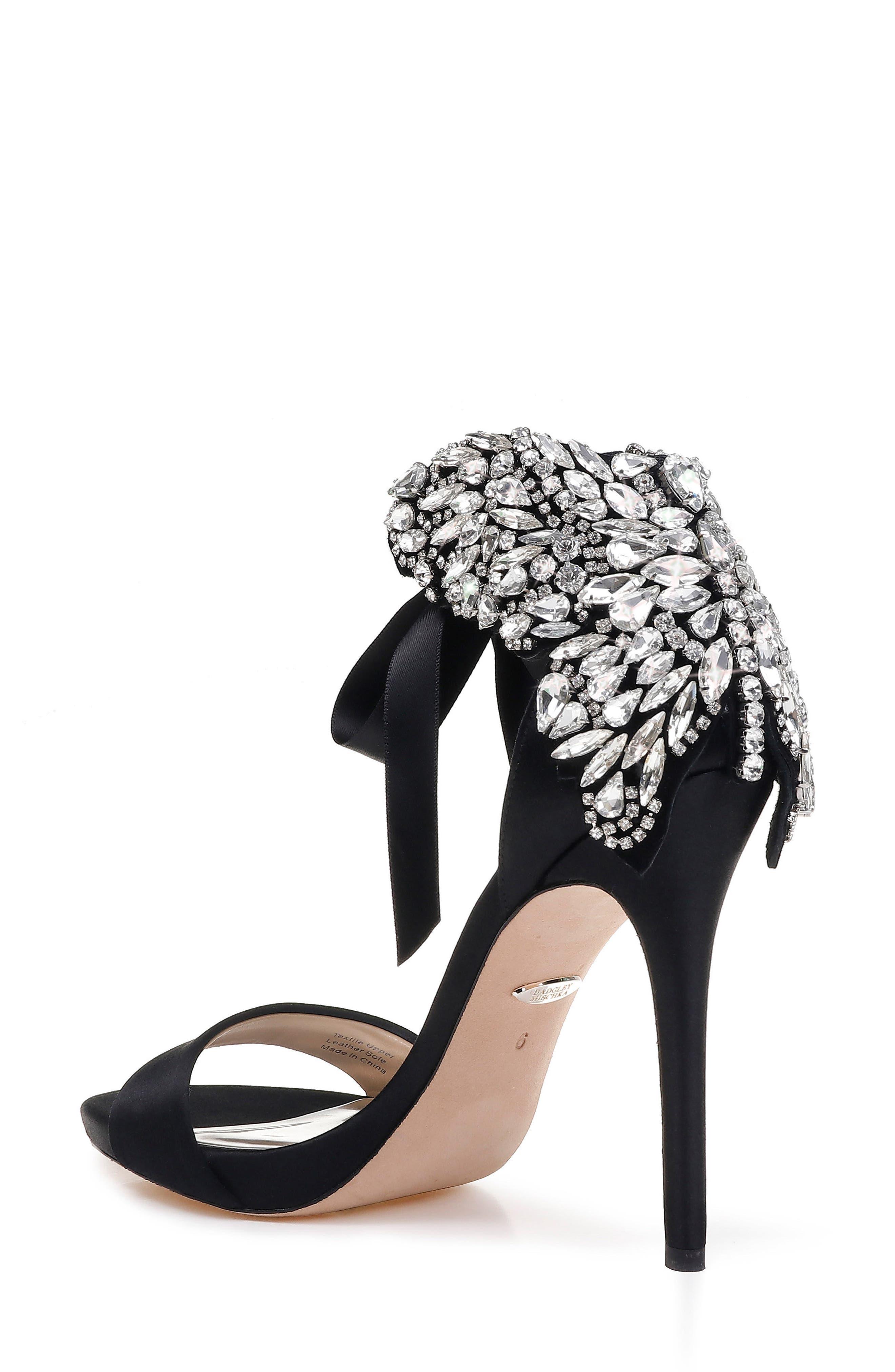 Alternate Image 2  - Badgley Mischka Hilda Crystal Embellished Sandal (Women)