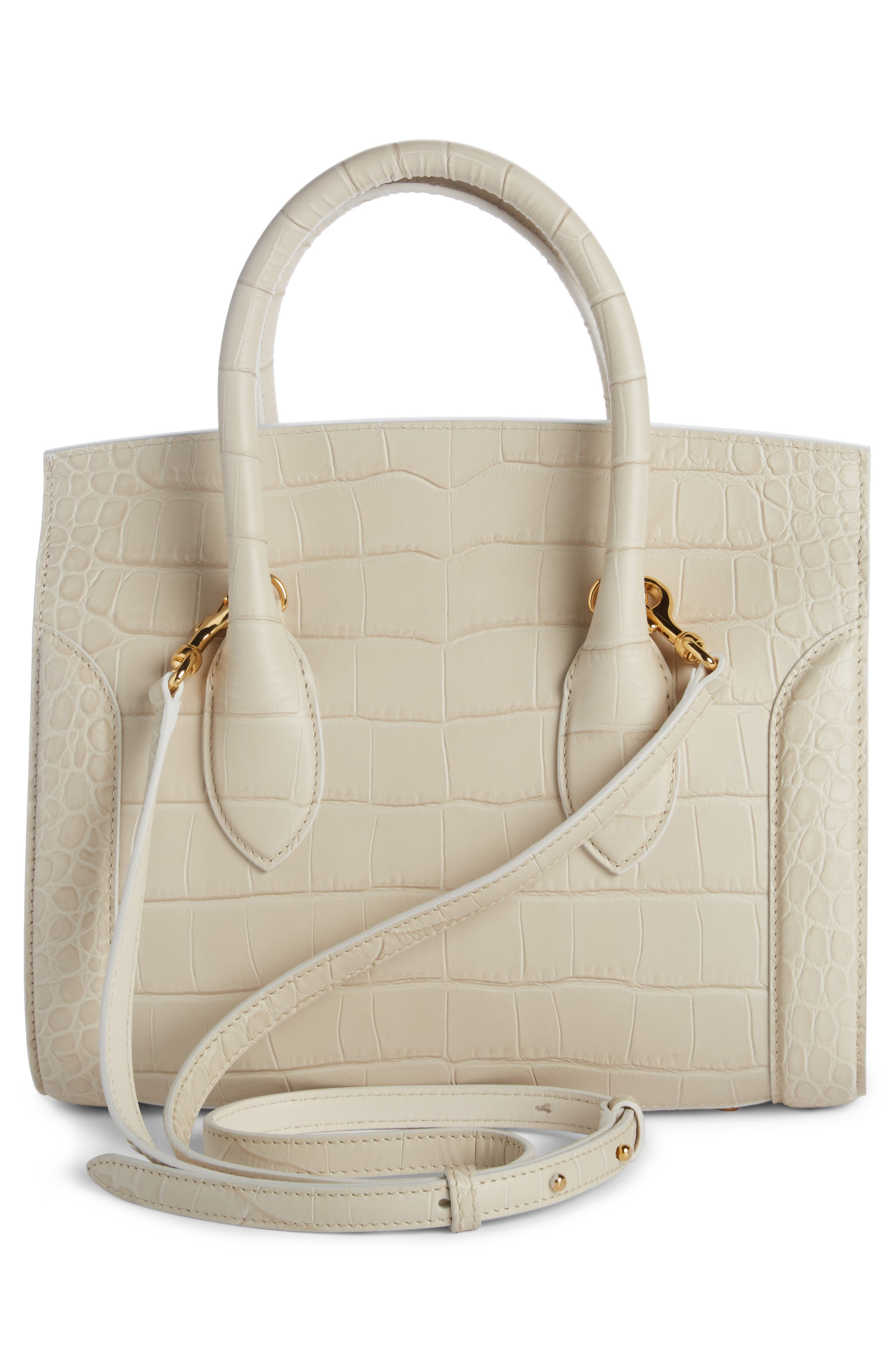Heroine 30 Leather Satchel,                             Alternate thumbnail 2, color,                             White Bone