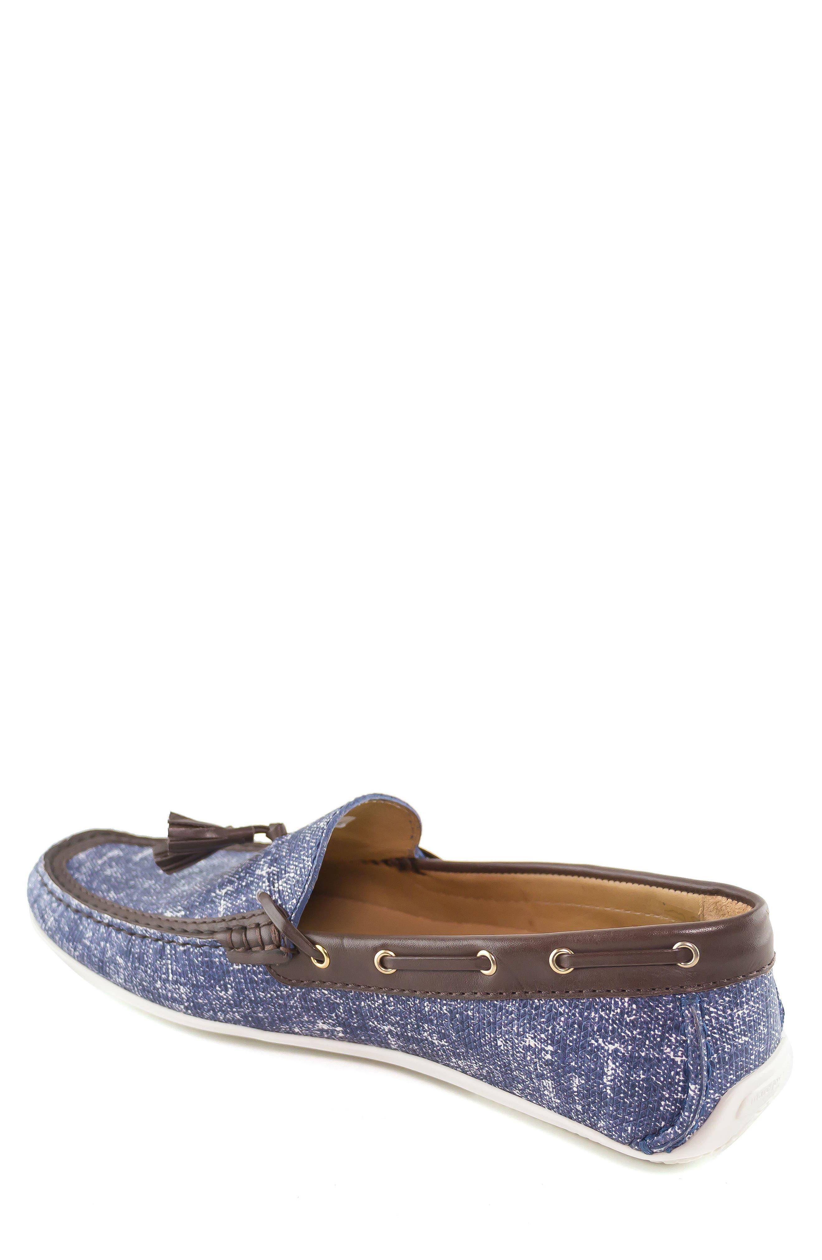 Bushwick Tasseled Driving Loafer,                             Alternate thumbnail 2, color,                             Jeans Blue