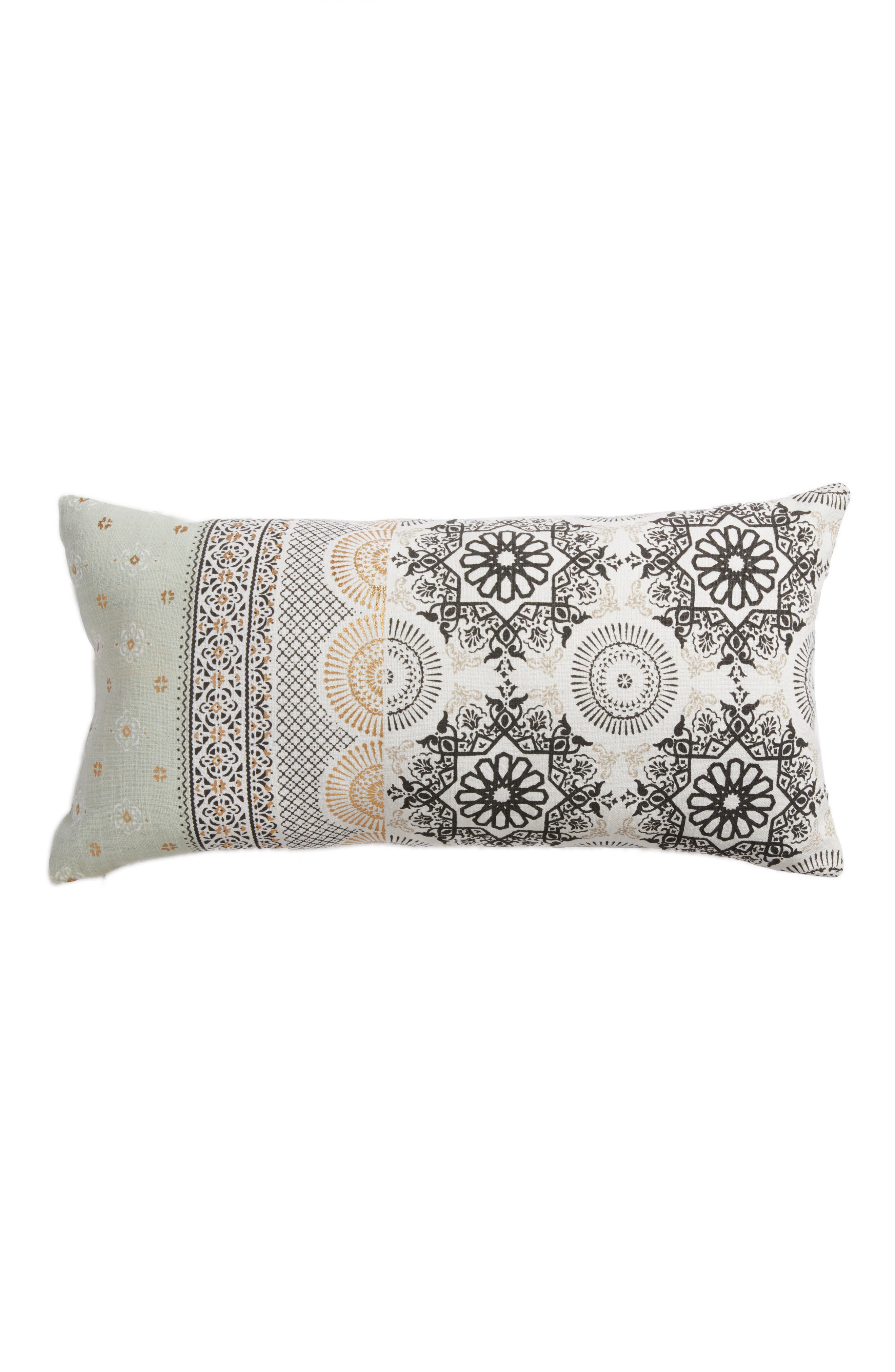 Moroccan Print Accent Pillow,                             Main thumbnail 1, color,                             Ivory Multi