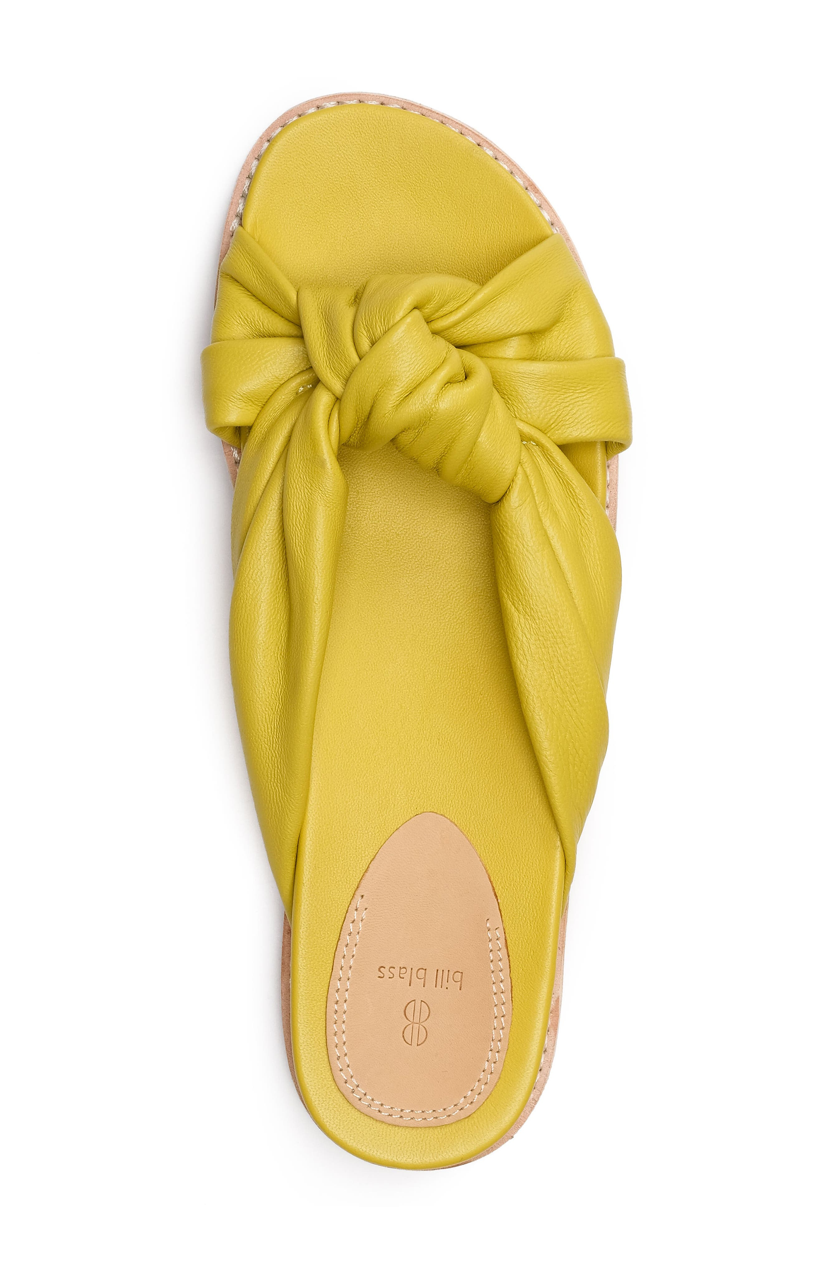 Padget Knotted Slide Sandal,                             Alternate thumbnail 4, color,                             Yellow
