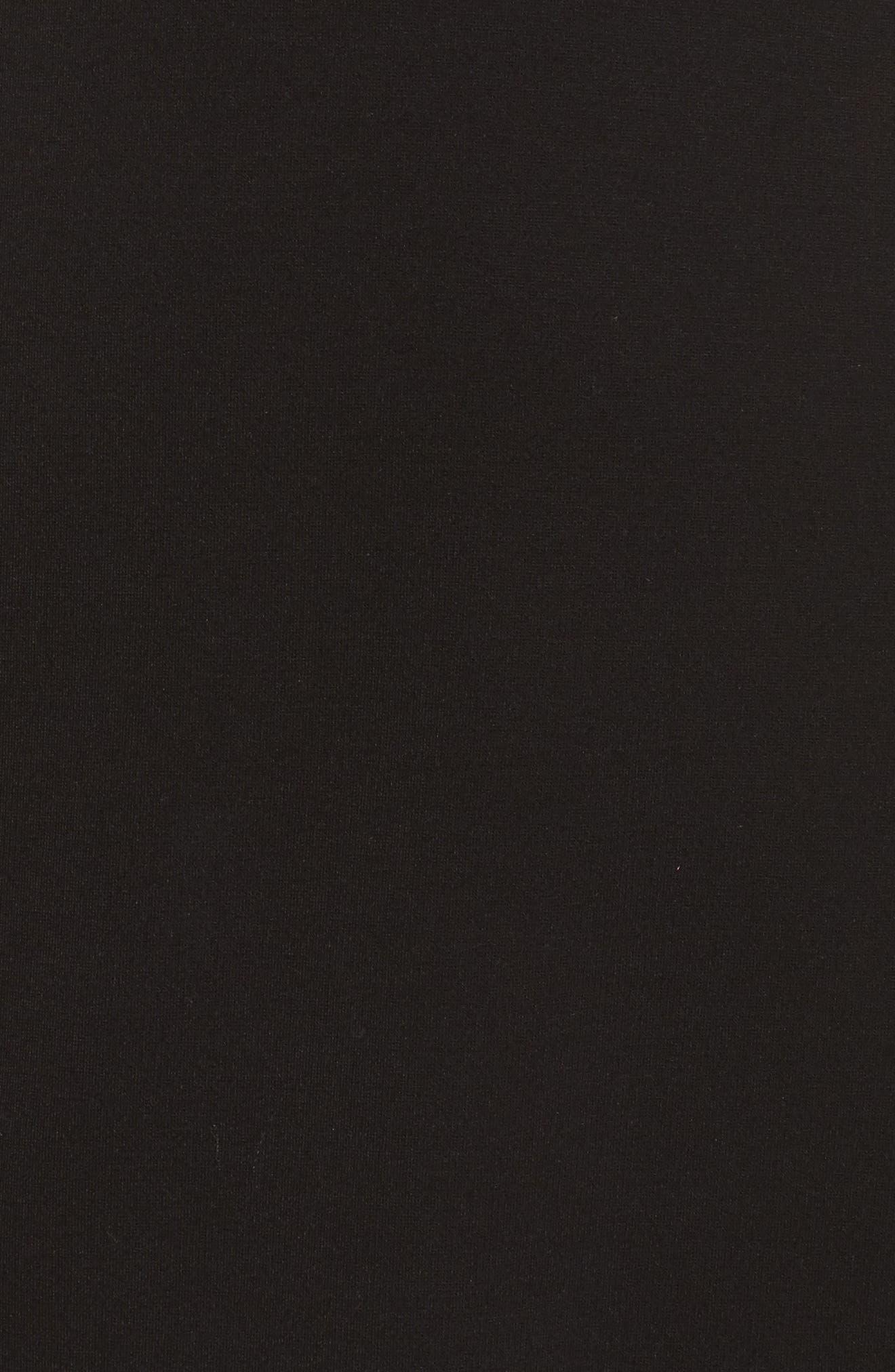 Plunging Jersey Minidress,                             Alternate thumbnail 5, color,                             Black