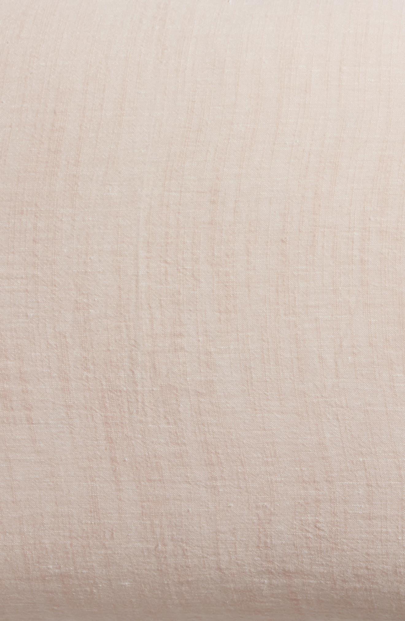 Relaxed Cotton & Linen Sham,                             Alternate thumbnail 5, color,                             Pink Wisp