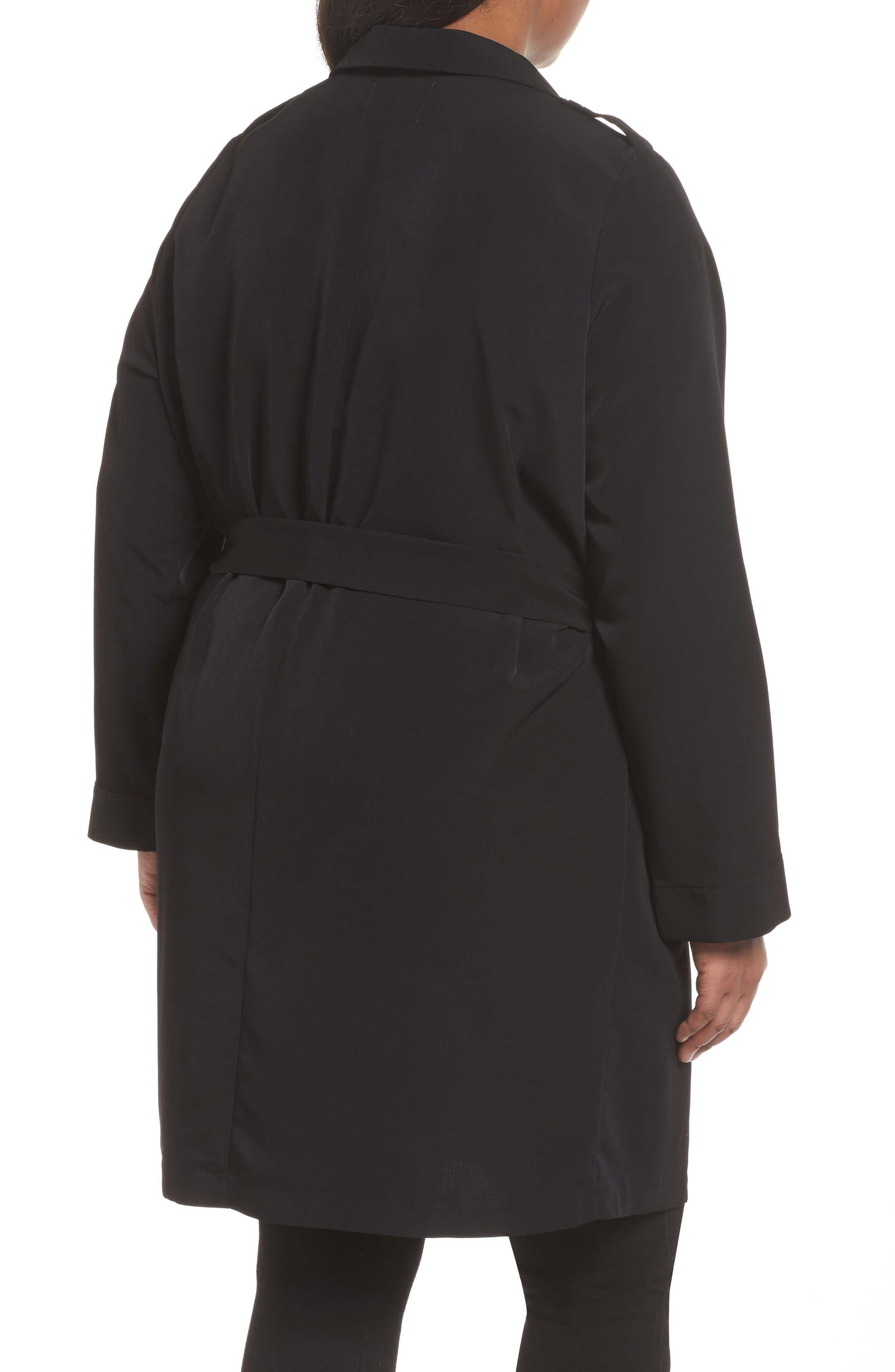 Kaiza Trench Coat,                             Alternate thumbnail 2, color,                             Black Beauty