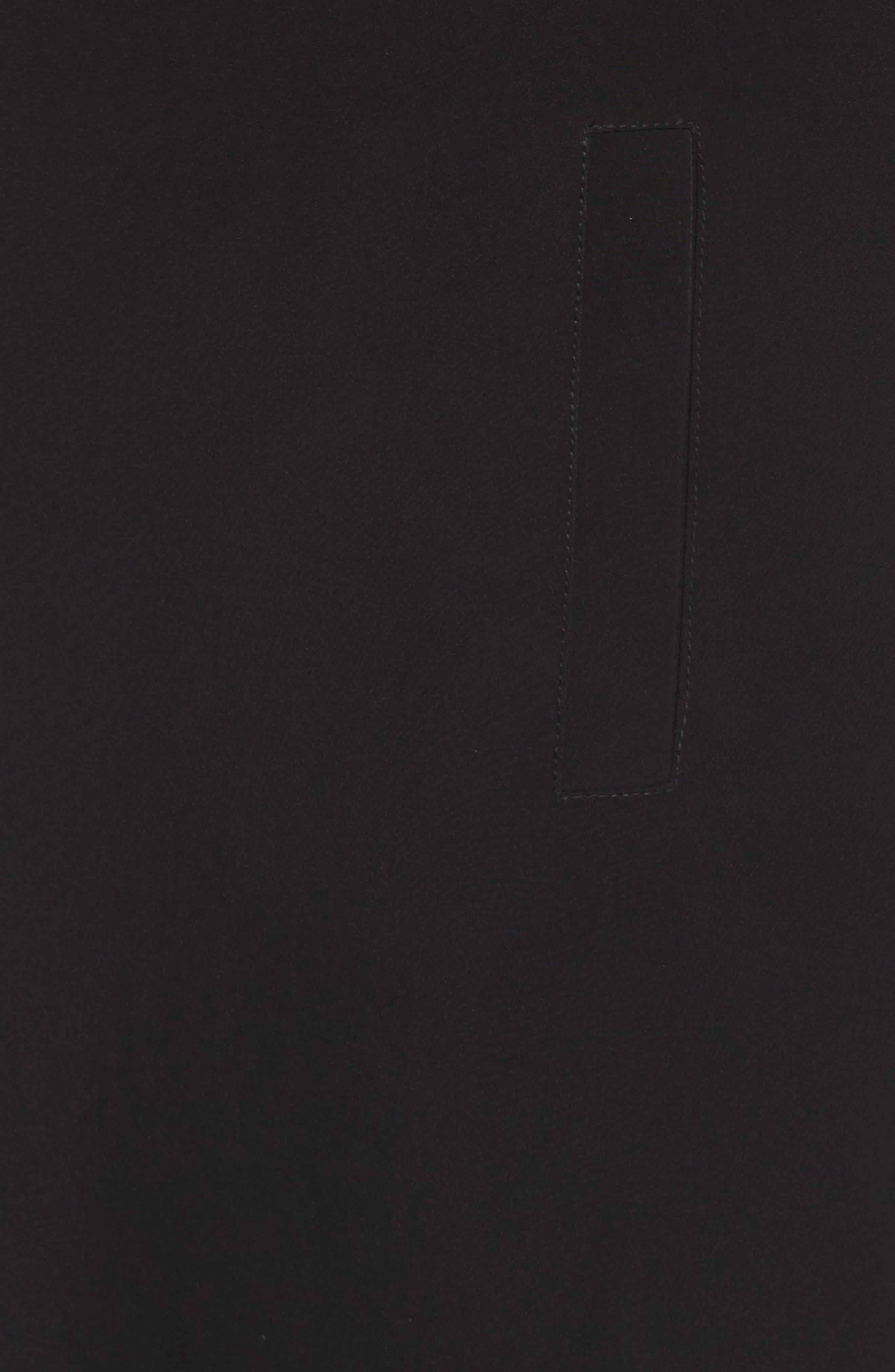 Kaiza Trench Coat,                             Alternate thumbnail 5, color,                             Black Beauty