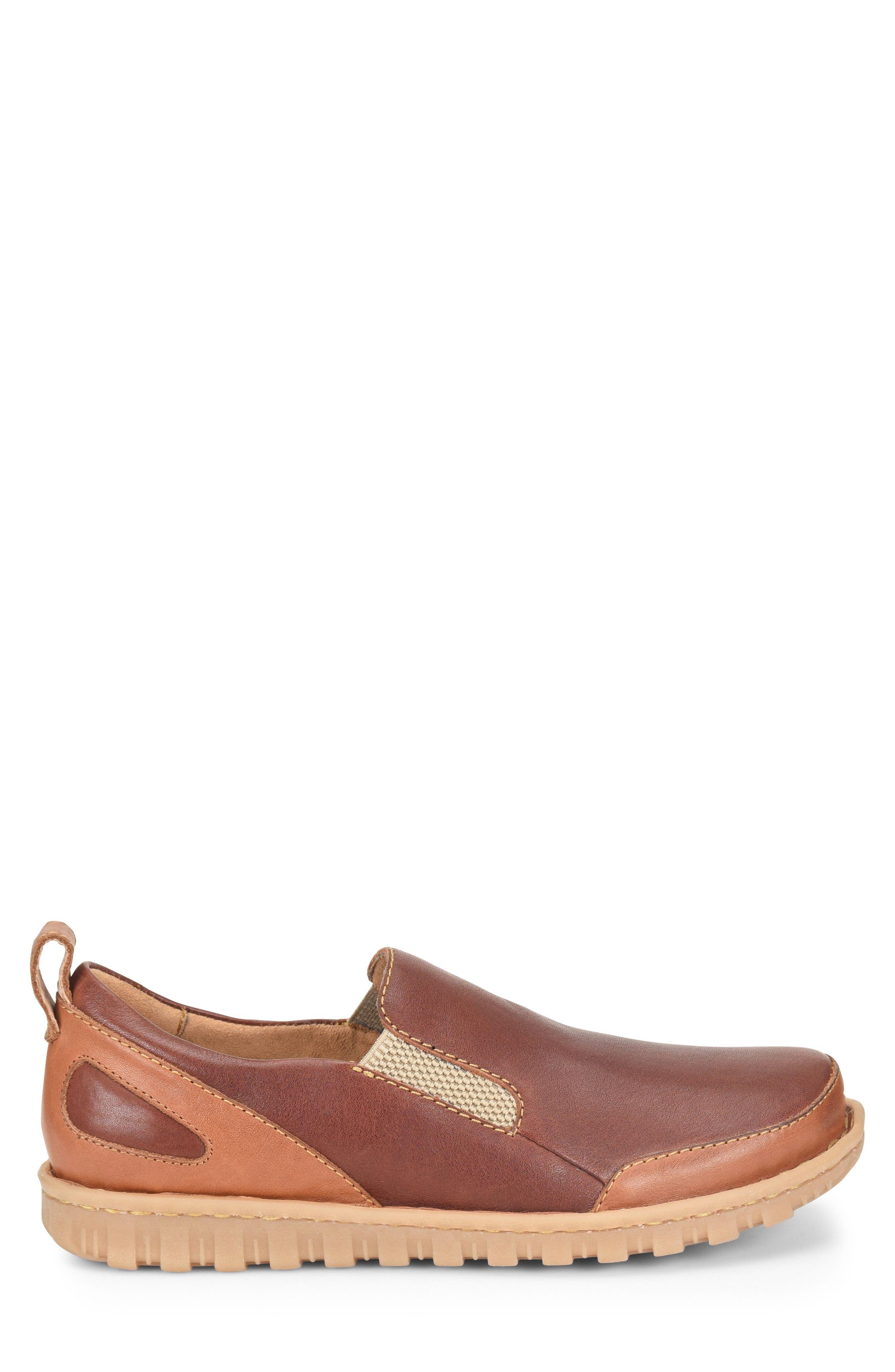 Pepper Slip-On,                             Alternate thumbnail 6, color,                             Brown/ Rust Leather
