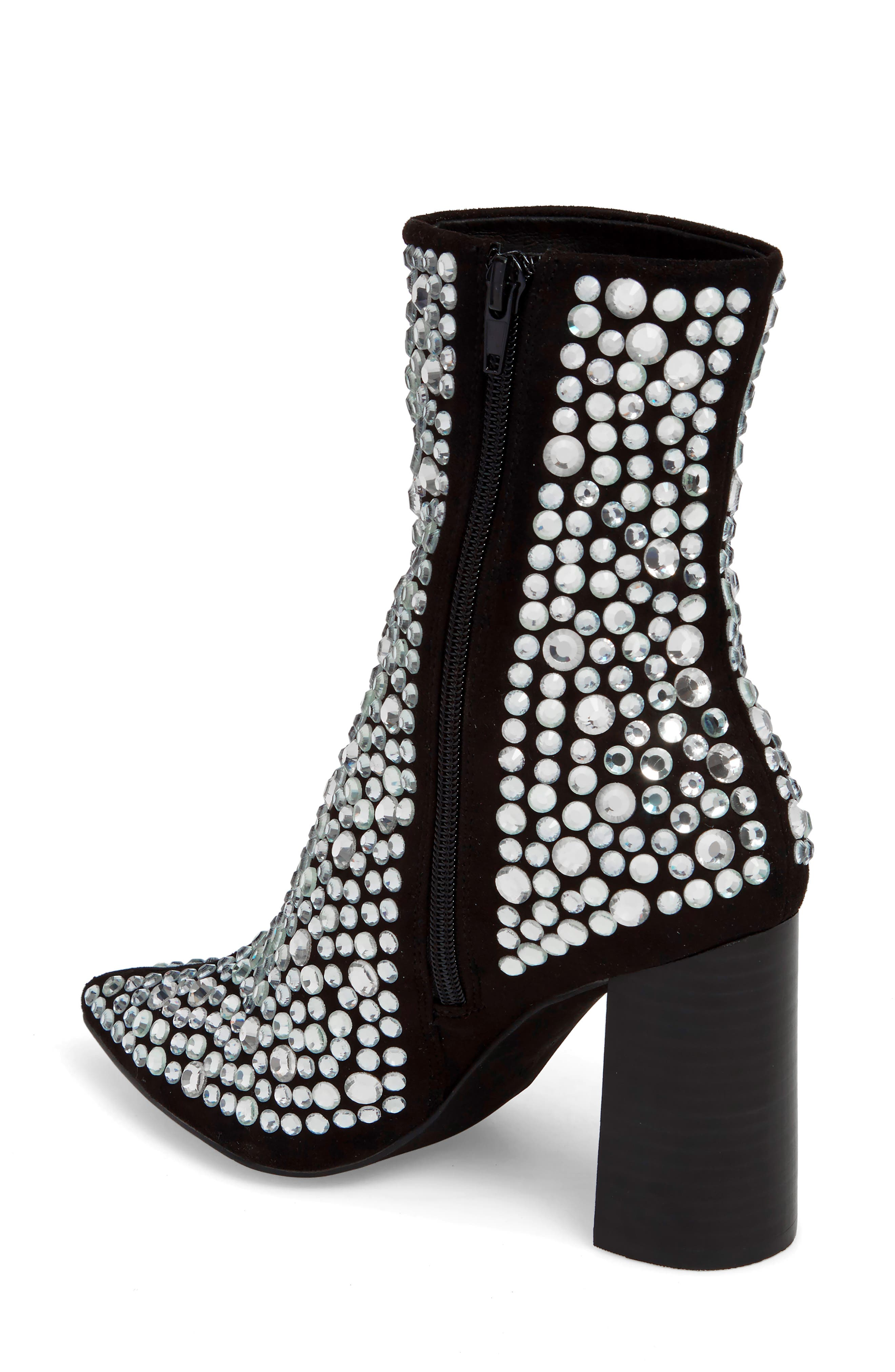 Siren-J Bootie,                             Alternate thumbnail 2, color,                             Black Faux Suede