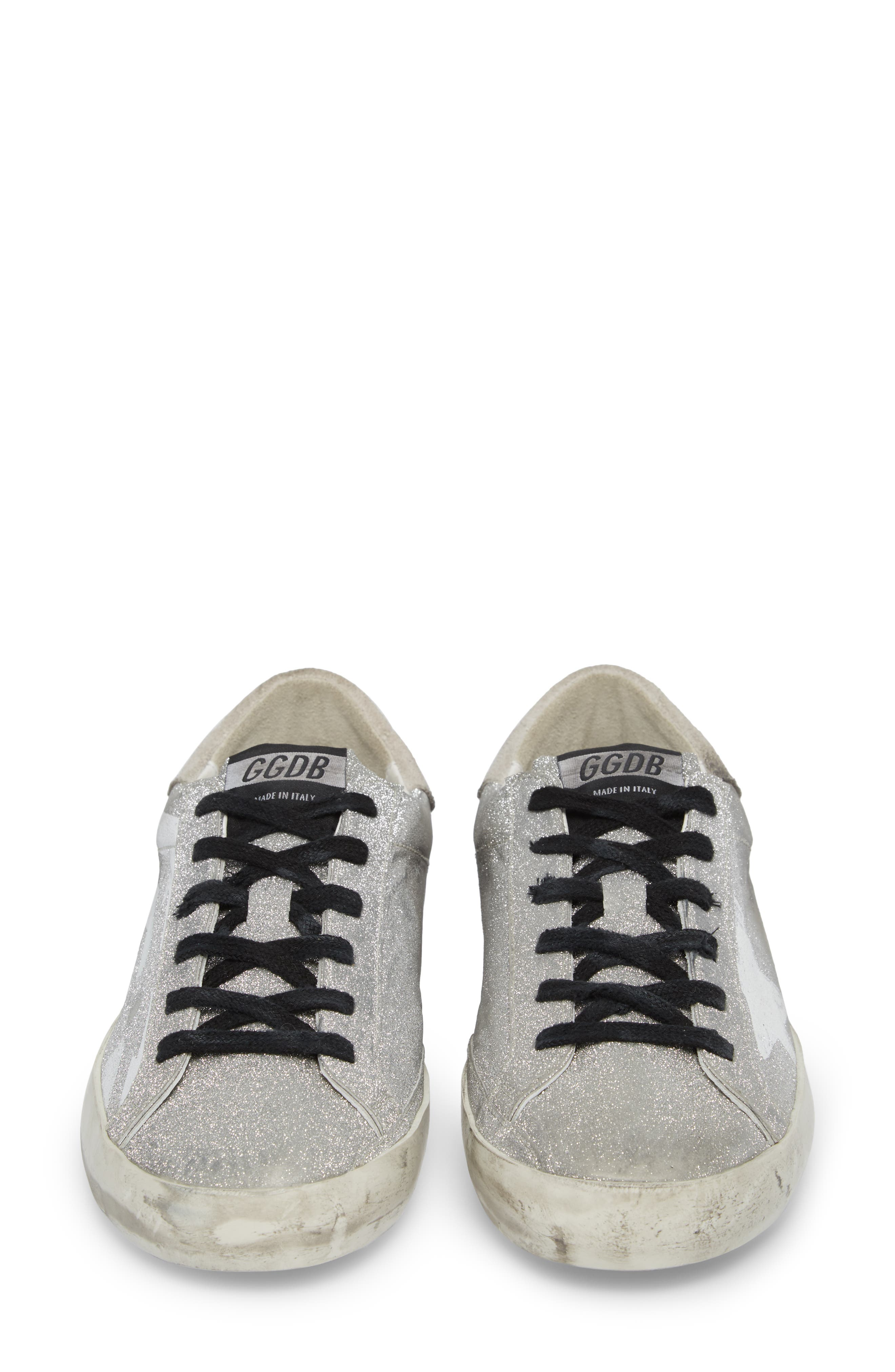 Superstar Low Top Sneaker,                             Alternate thumbnail 4, color,                             Grey/ White