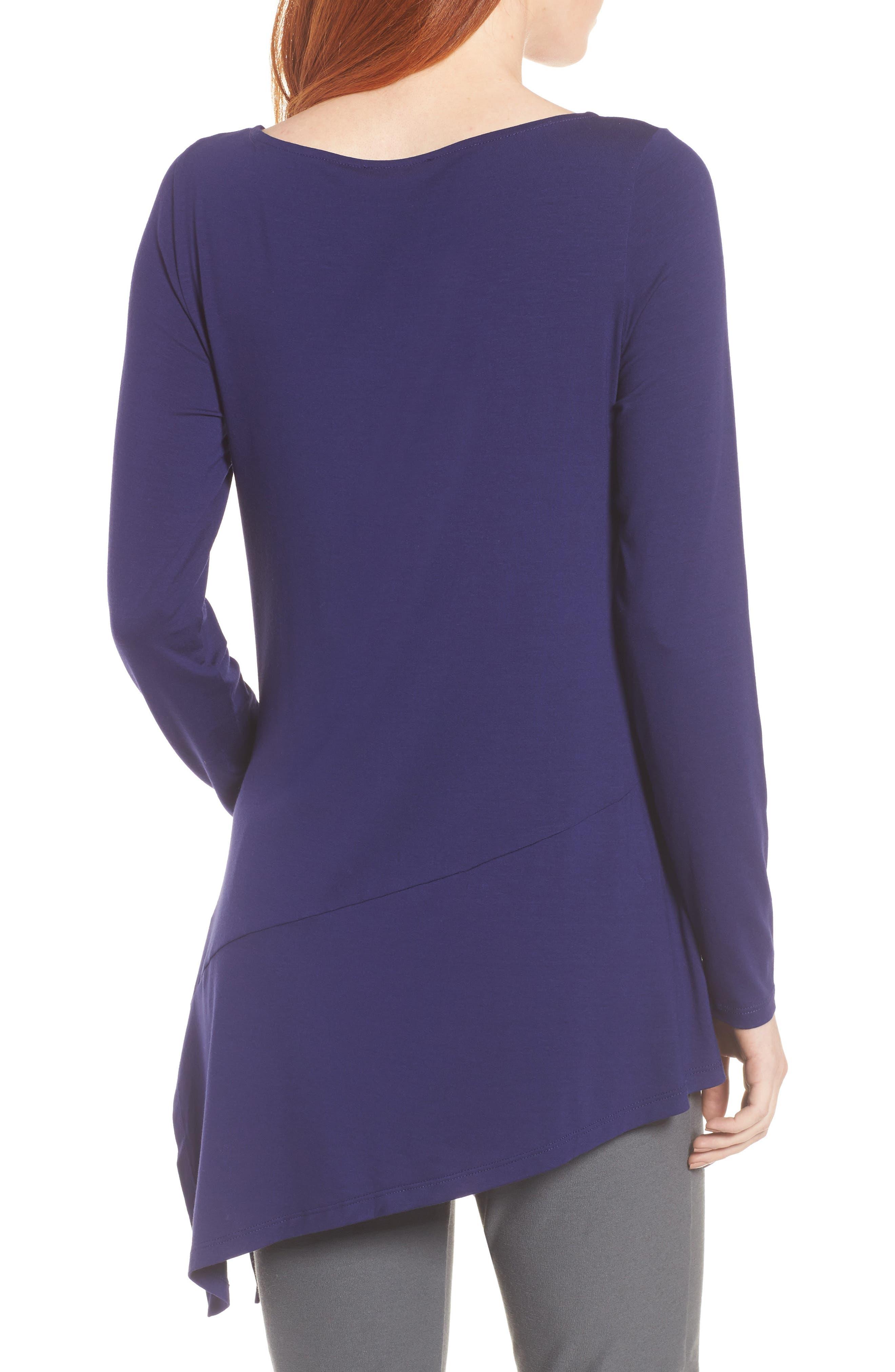 Alternate Image 2  - Eileen Fisher Bateau Neck Asymmetrical Jersey Tunic (Regular & Petite) (Online Only)