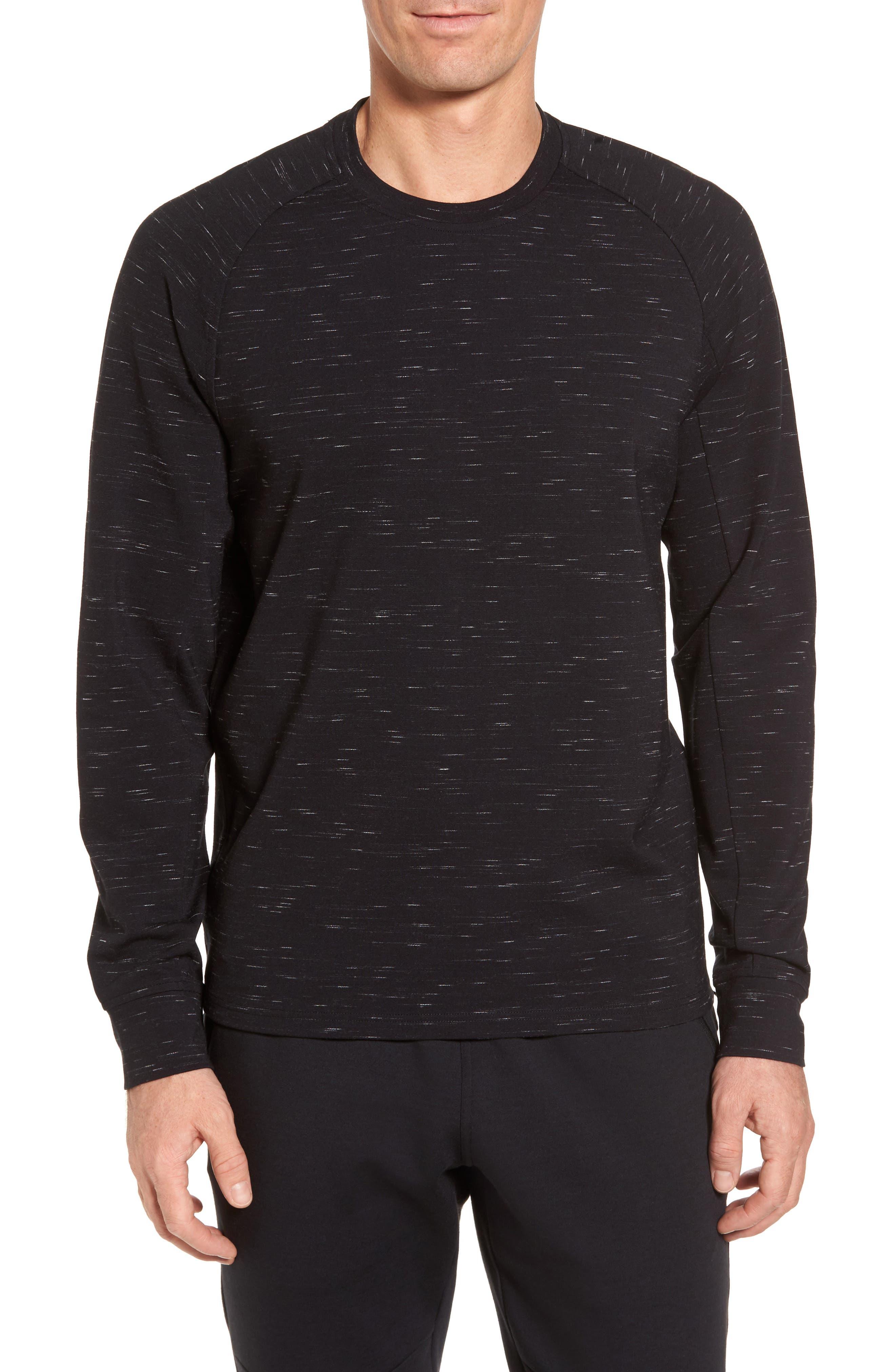 Main Image - Zella Fleece Crewneck Sweatshirt