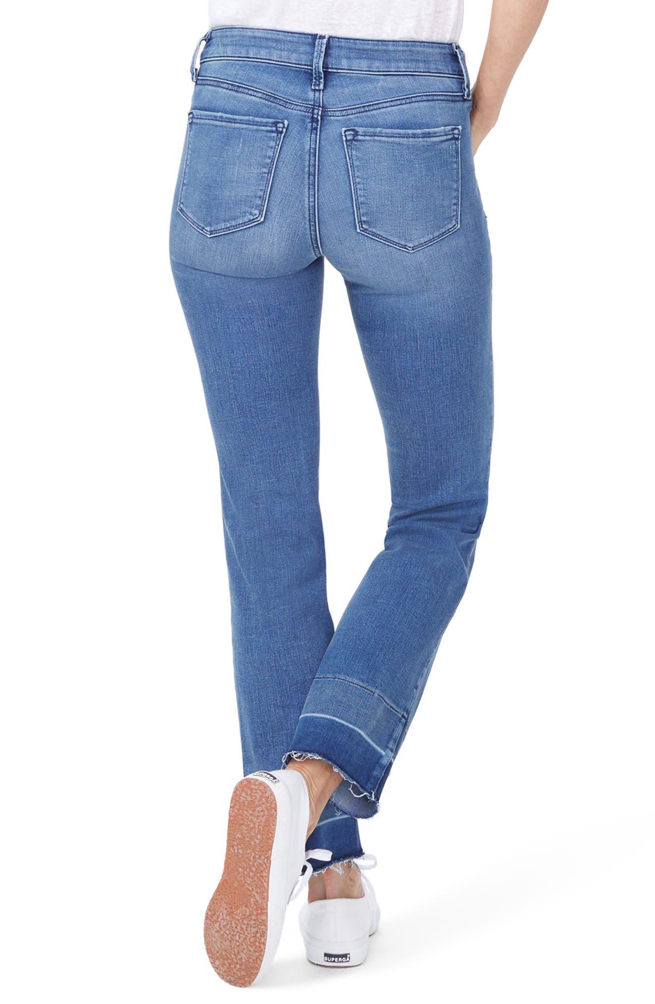Marilyn Wide Release Hem Straight Leg Jeans,                             Alternate thumbnail 2, color,                             Wishful
