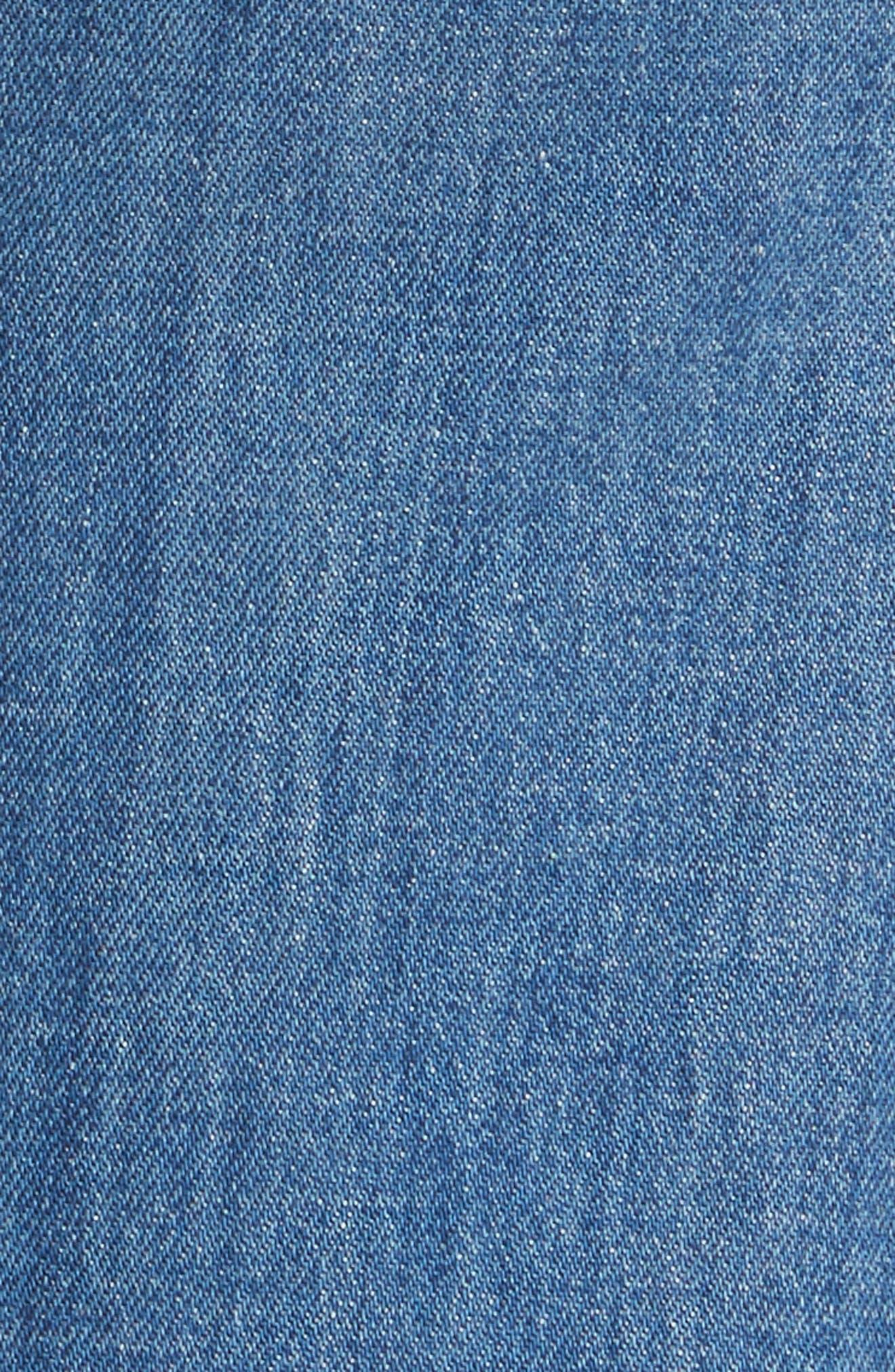 AO.LA Gorgeous Snap Side Flare Leg Jeans,                             Alternate thumbnail 5, color,                             French Blue