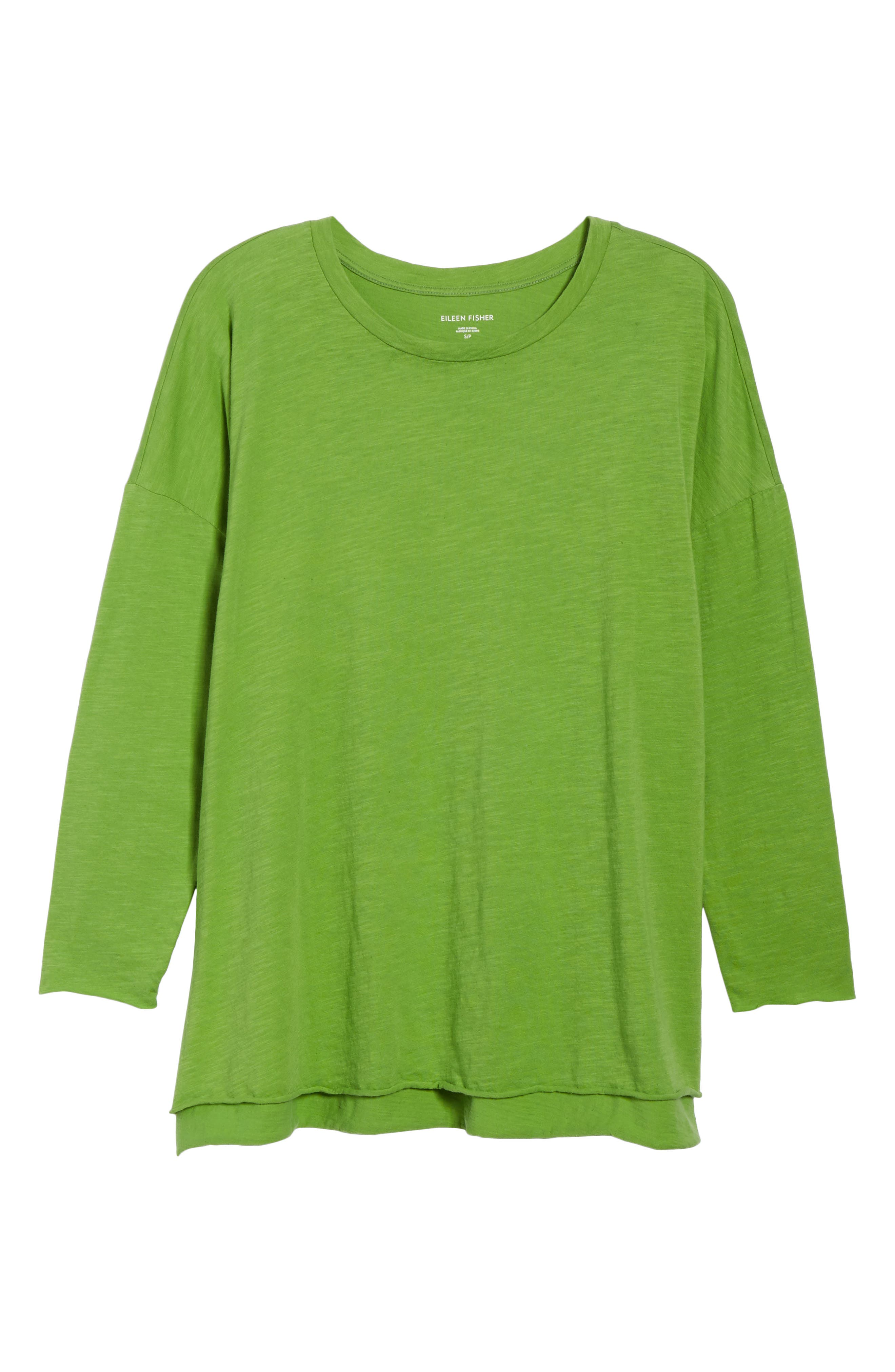 Organic Cotton Knit Top,                             Alternate thumbnail 6, color,                             Apple